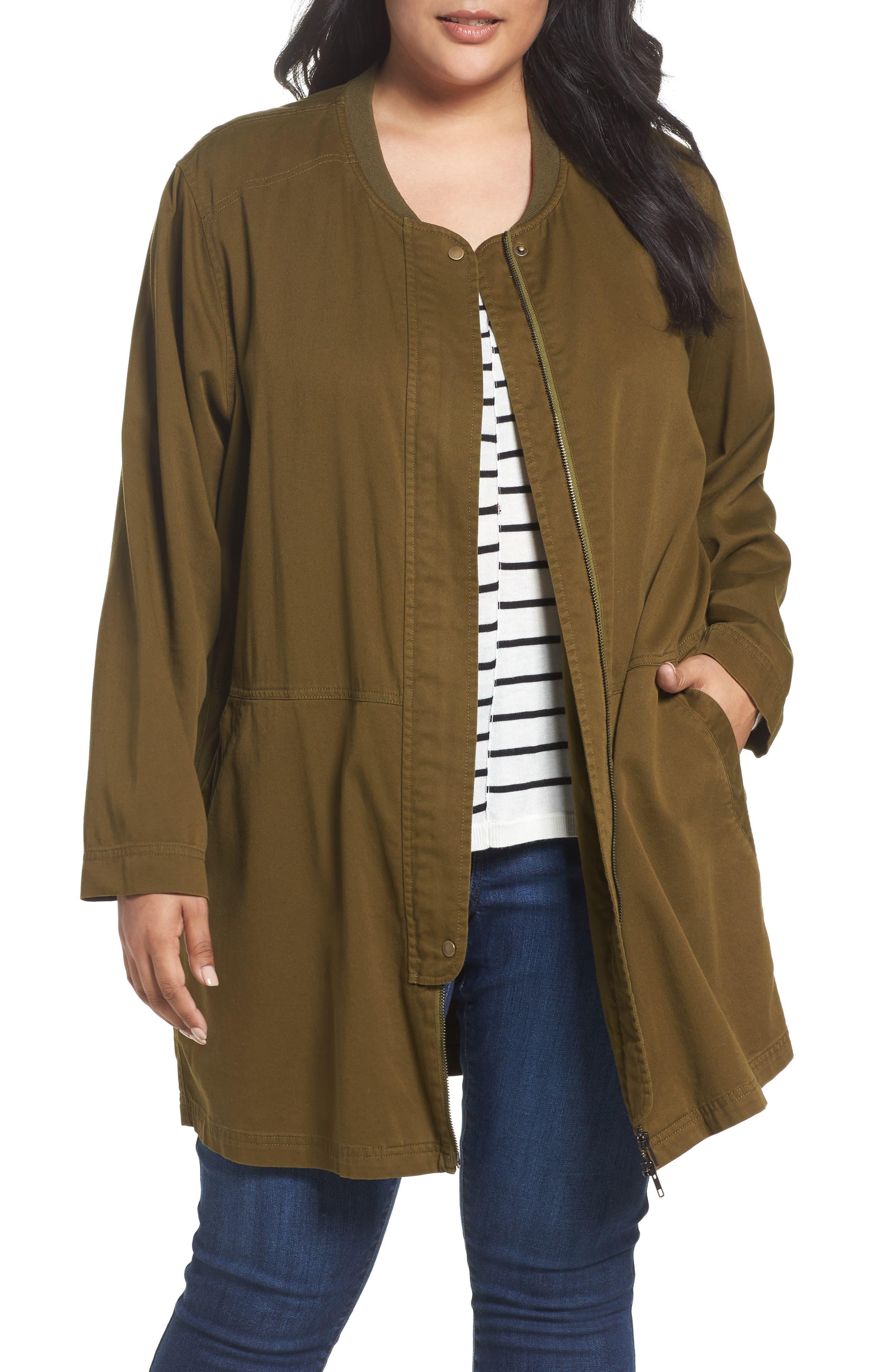 Sejour Long Utility Jacket (Plus Size)