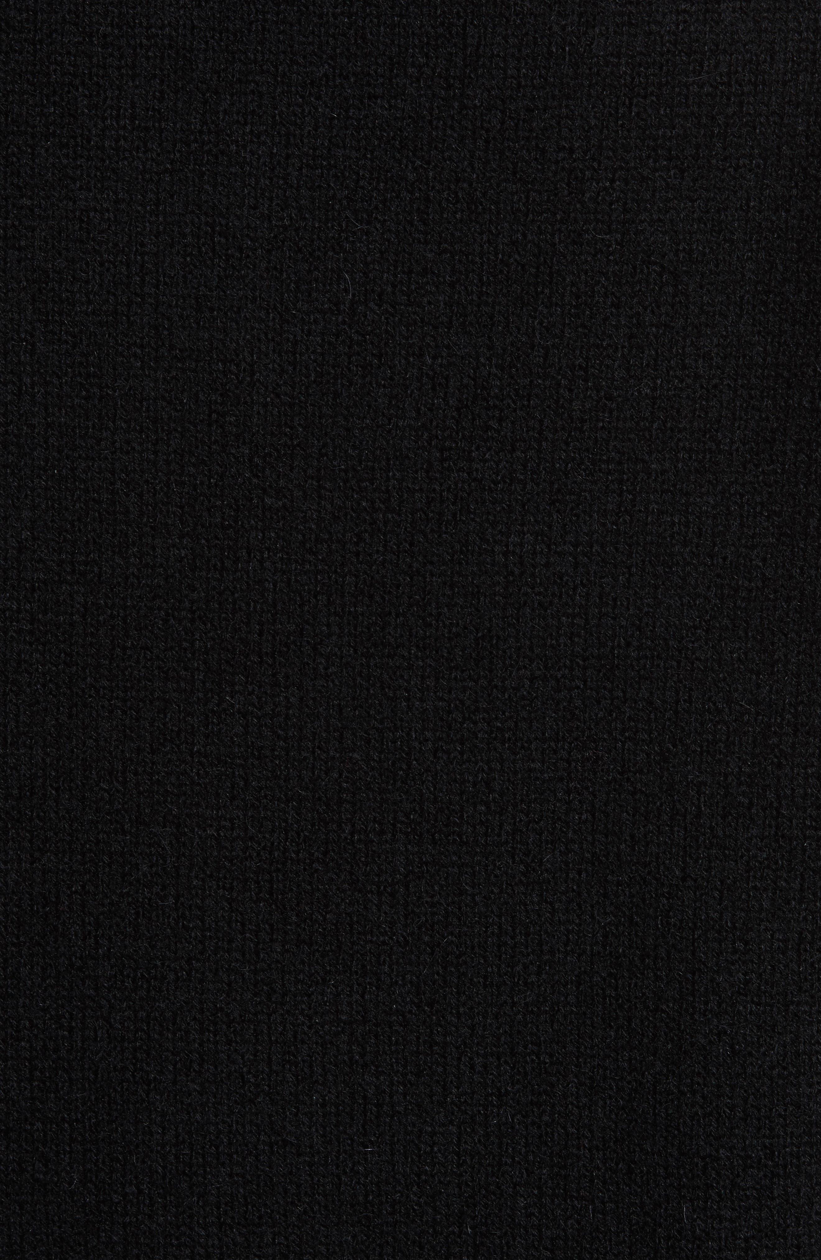 Alpaca Blend V-Neck Sweater,                             Alternate thumbnail 5, color,                             Black