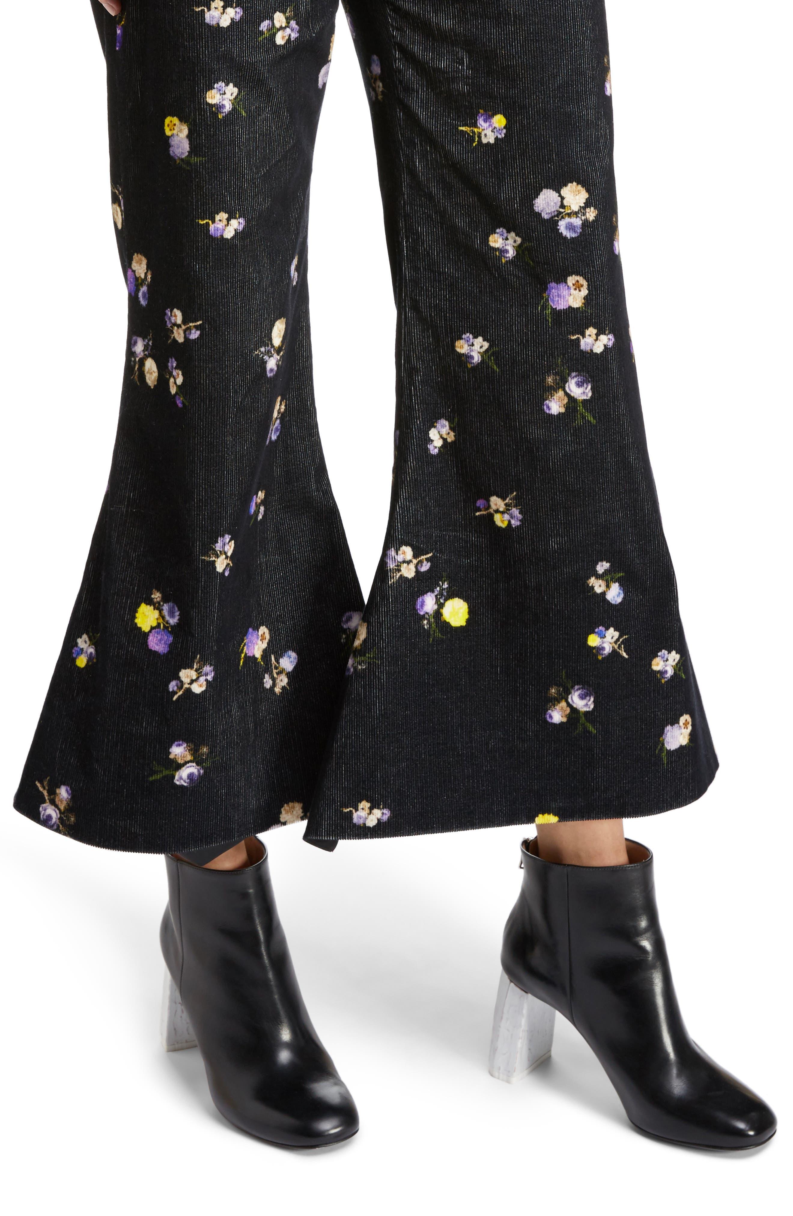 Alternate Image 4  - ACNE Studios Tyme Floral Corduroy Wide Leg Pants