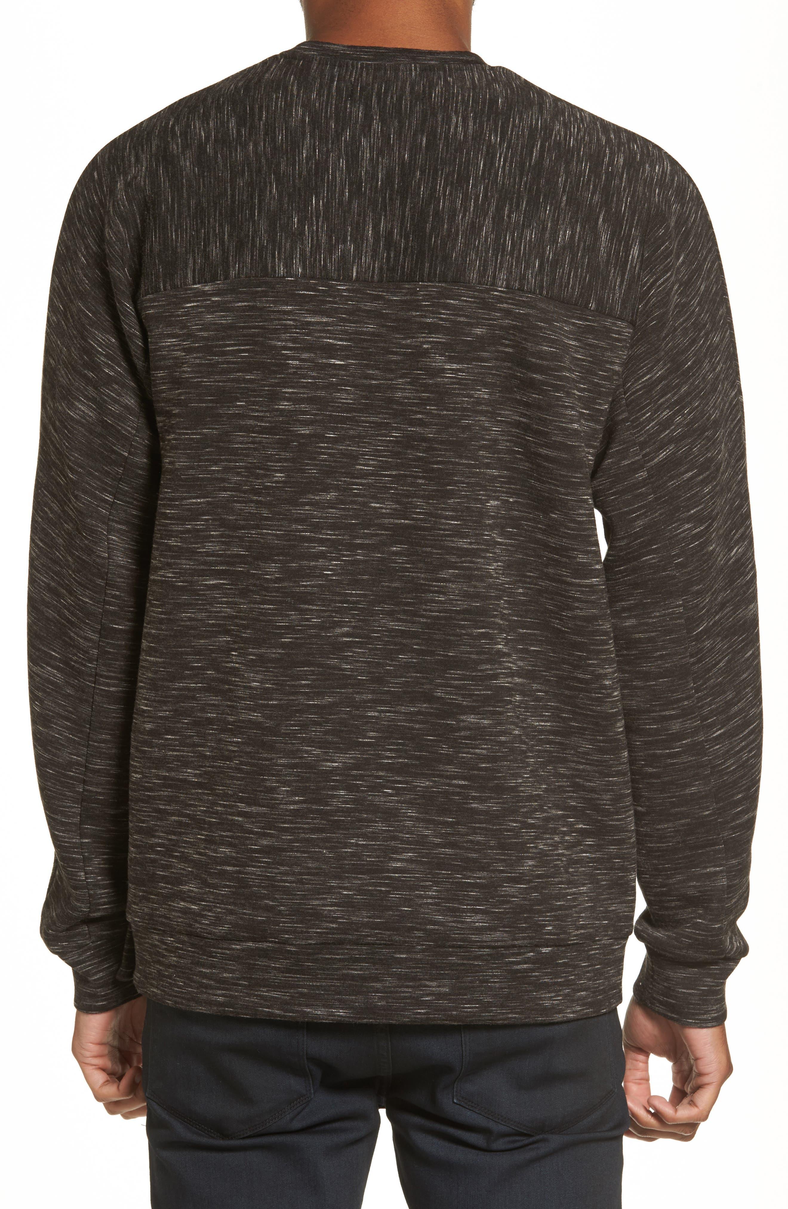 Alternate Image 2  - Calibrate Side Zip Crewneck Sweatshirt