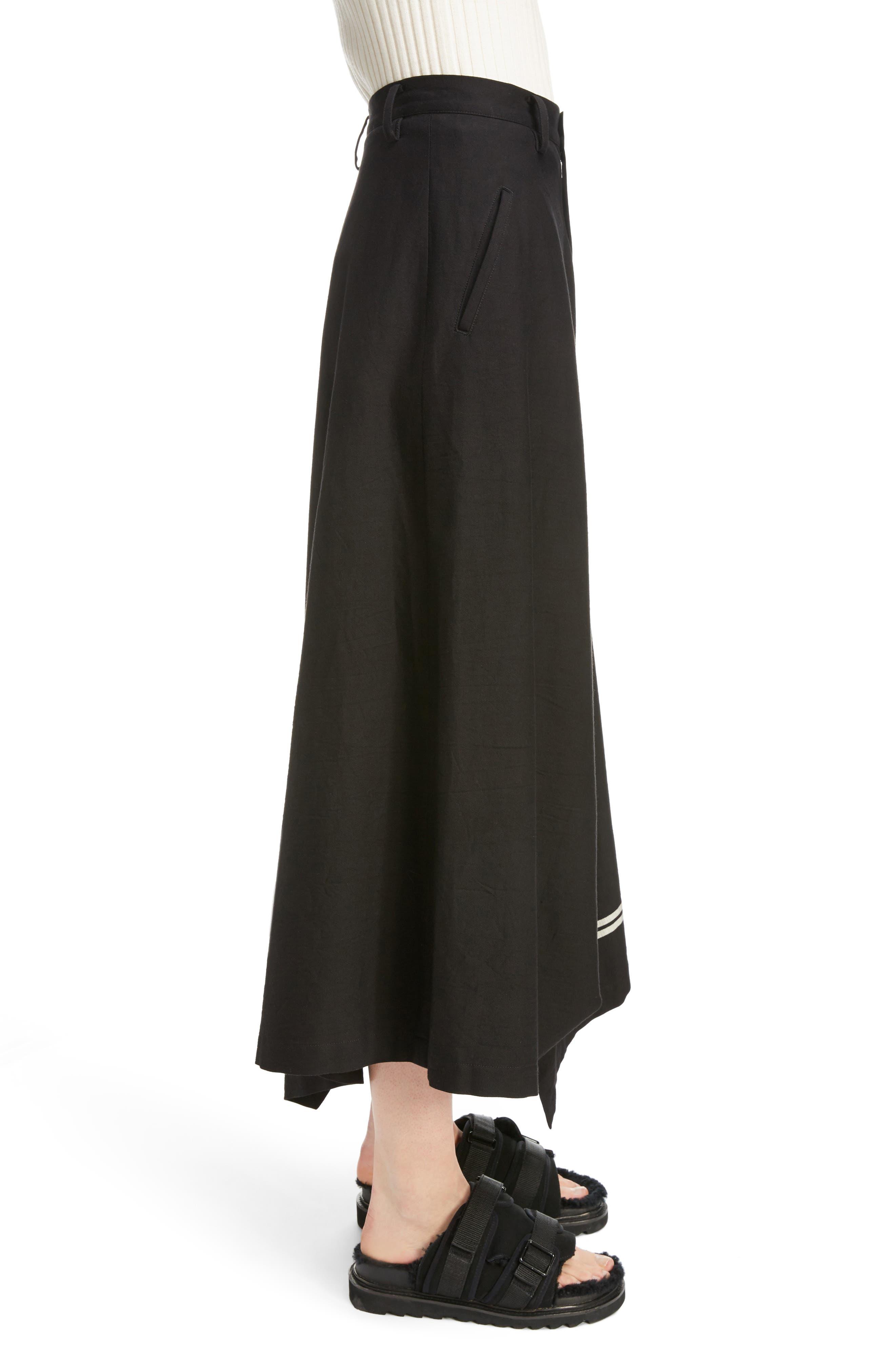 Dart Front Skirt,                             Alternate thumbnail 3, color,                             Navy