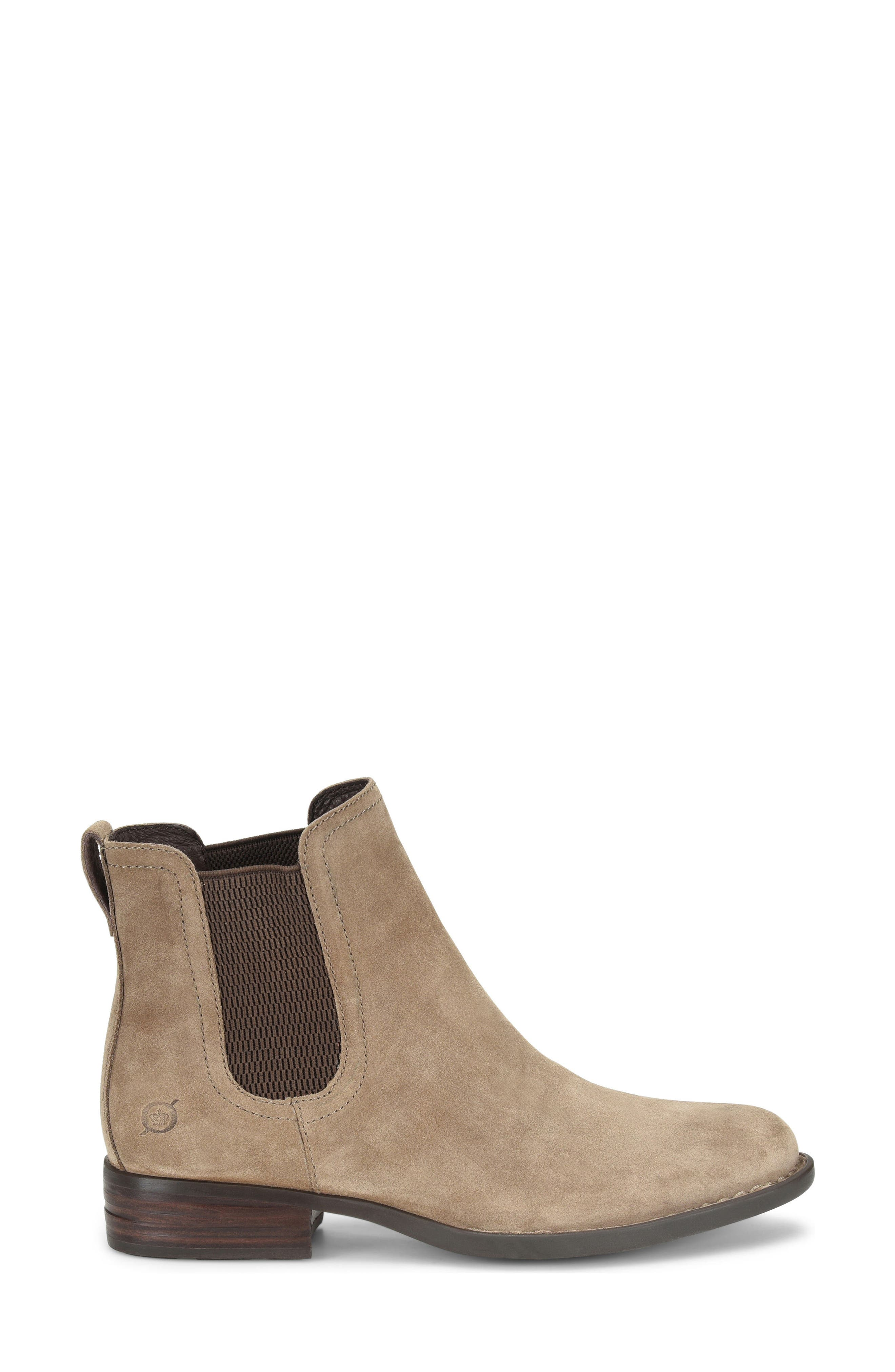 Casco Chelsea Boot,                             Alternate thumbnail 3, color,                             Taupe Suede