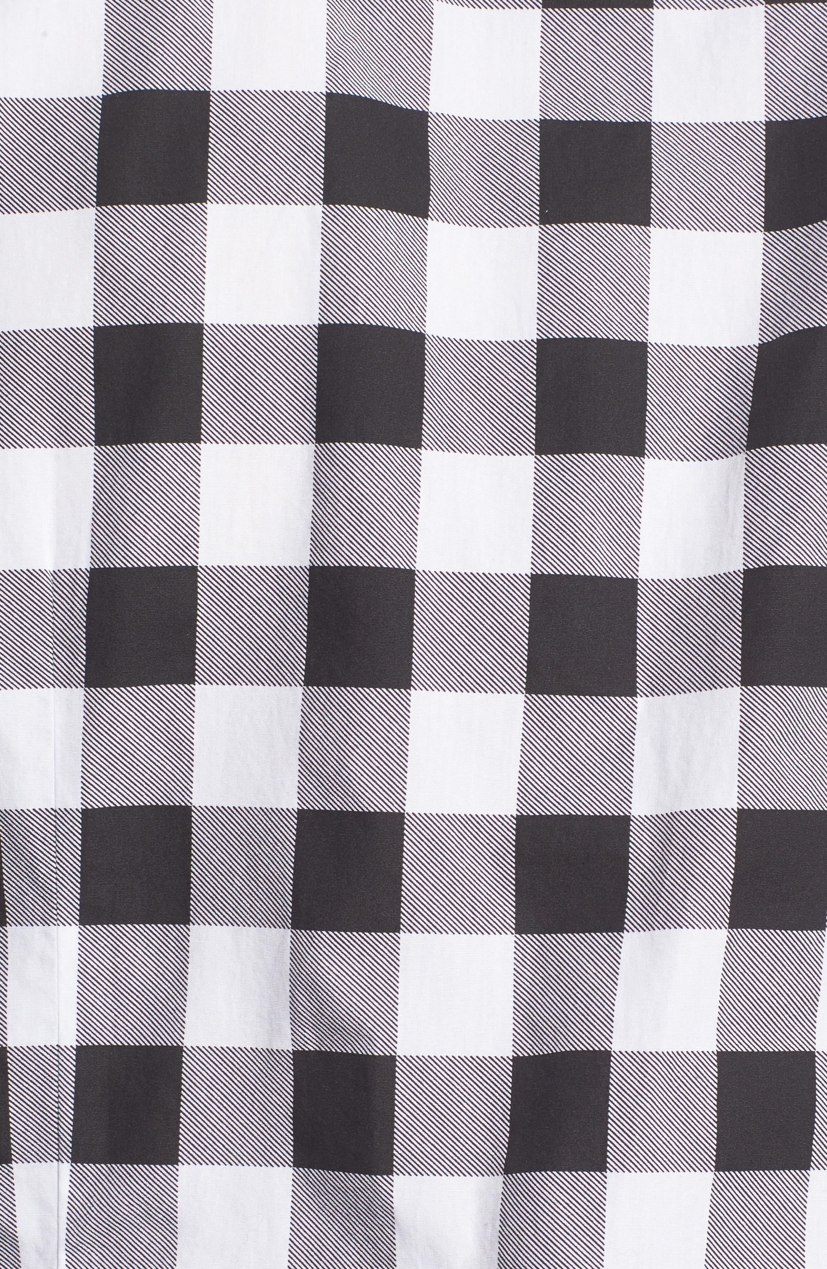 Lance Regular Fit Buffalo Plaid Sport Shirt,                             Alternate thumbnail 6, color,                             Black/ White