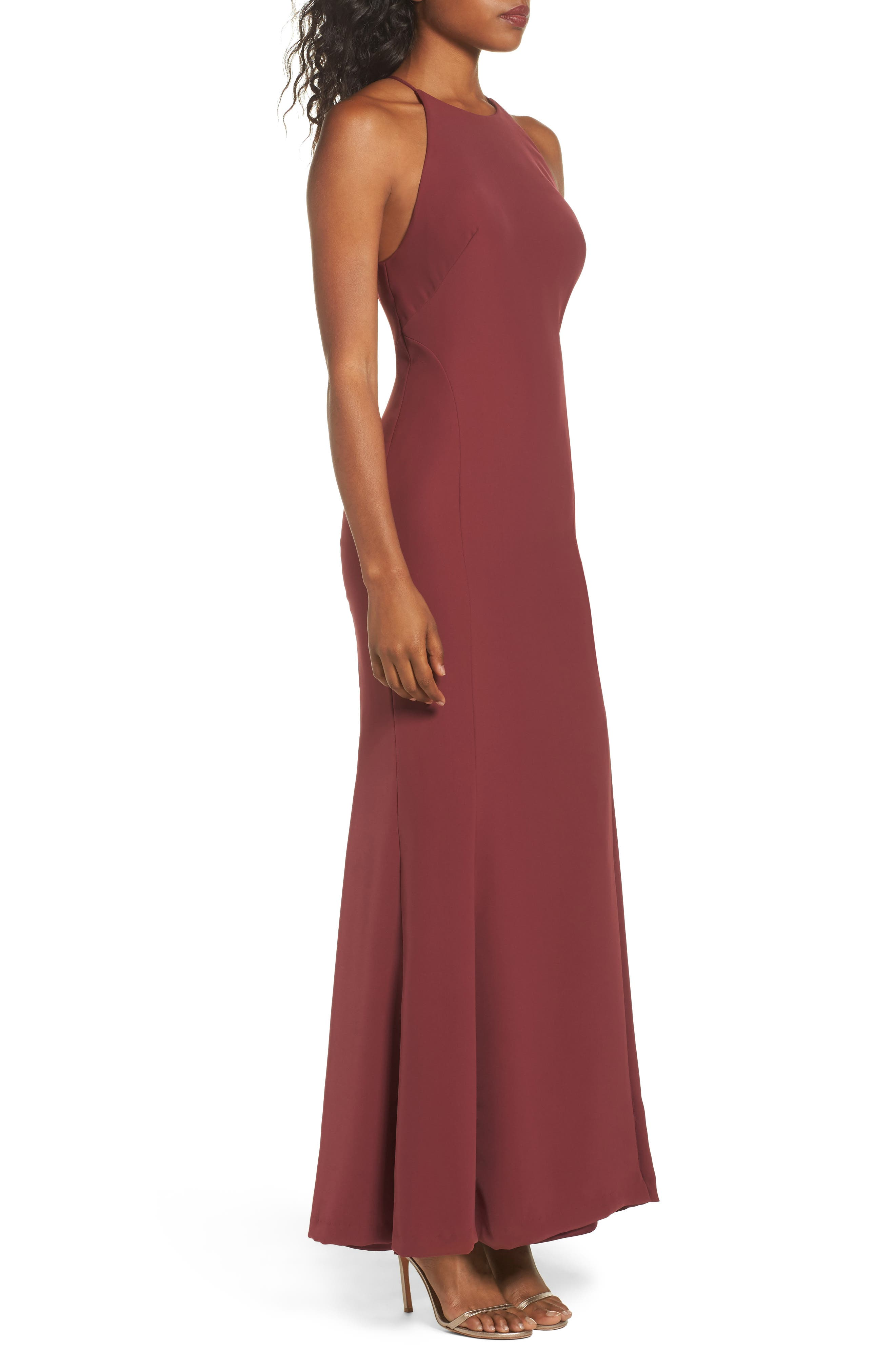 Mical Bellessa Stretch Crepe Gown,                             Alternate thumbnail 3, color,                             Luxardo