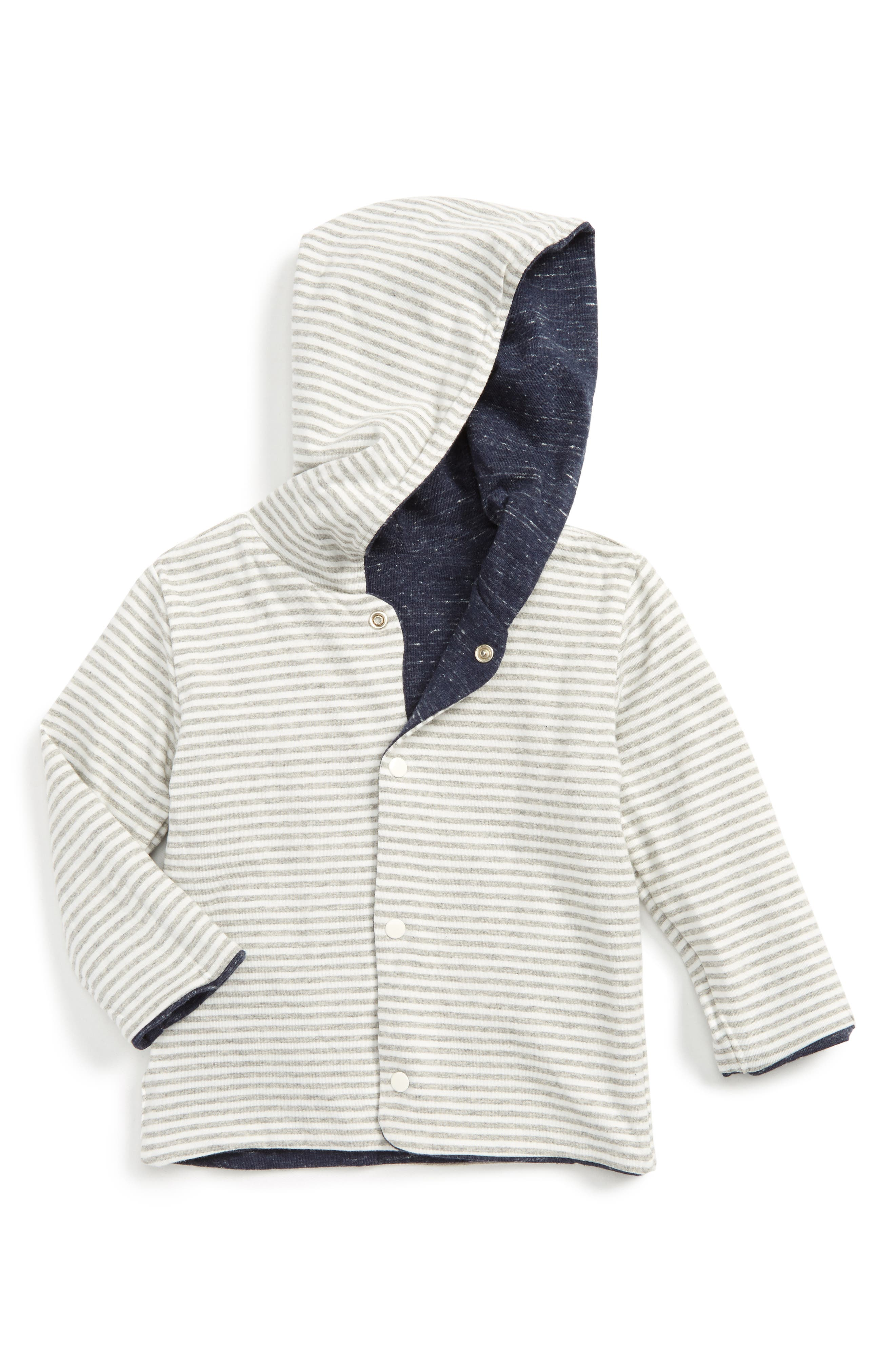 Alternate Image 2  - Hatley Reversible Hoodie (Baby Boys)