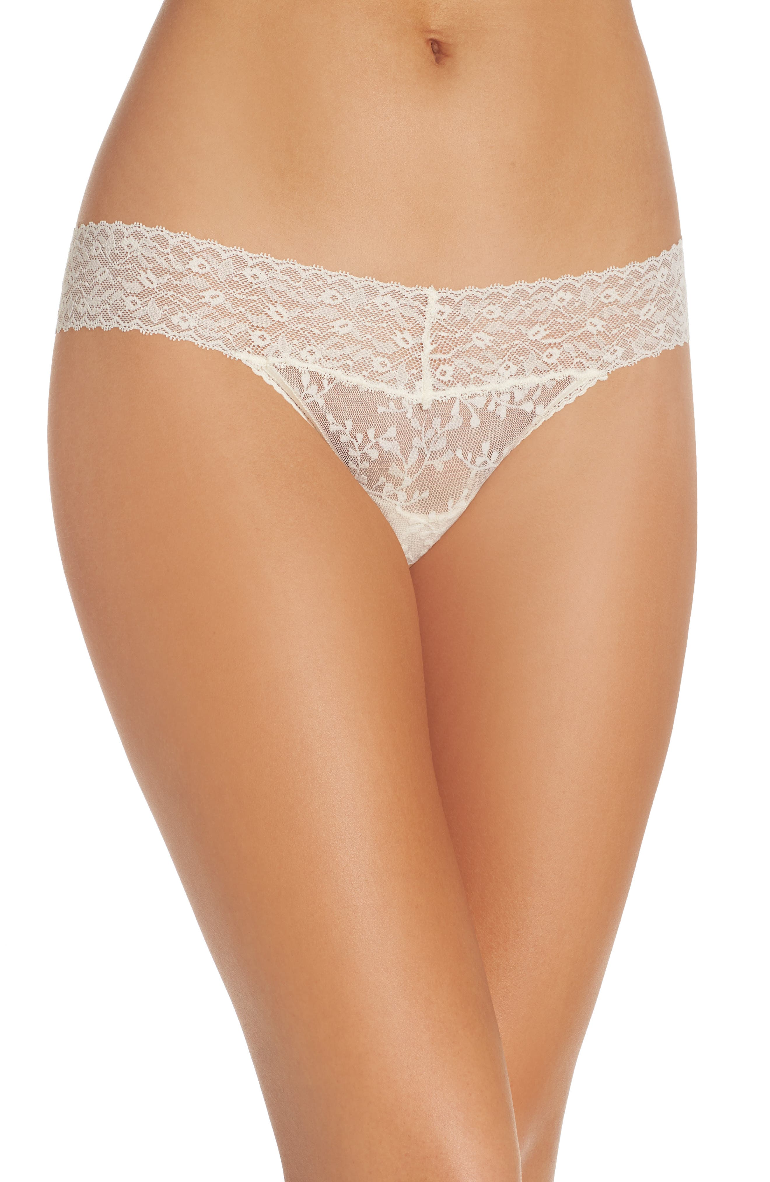 Alternate Image 1 Selected - Calvin Klein Lace Thong