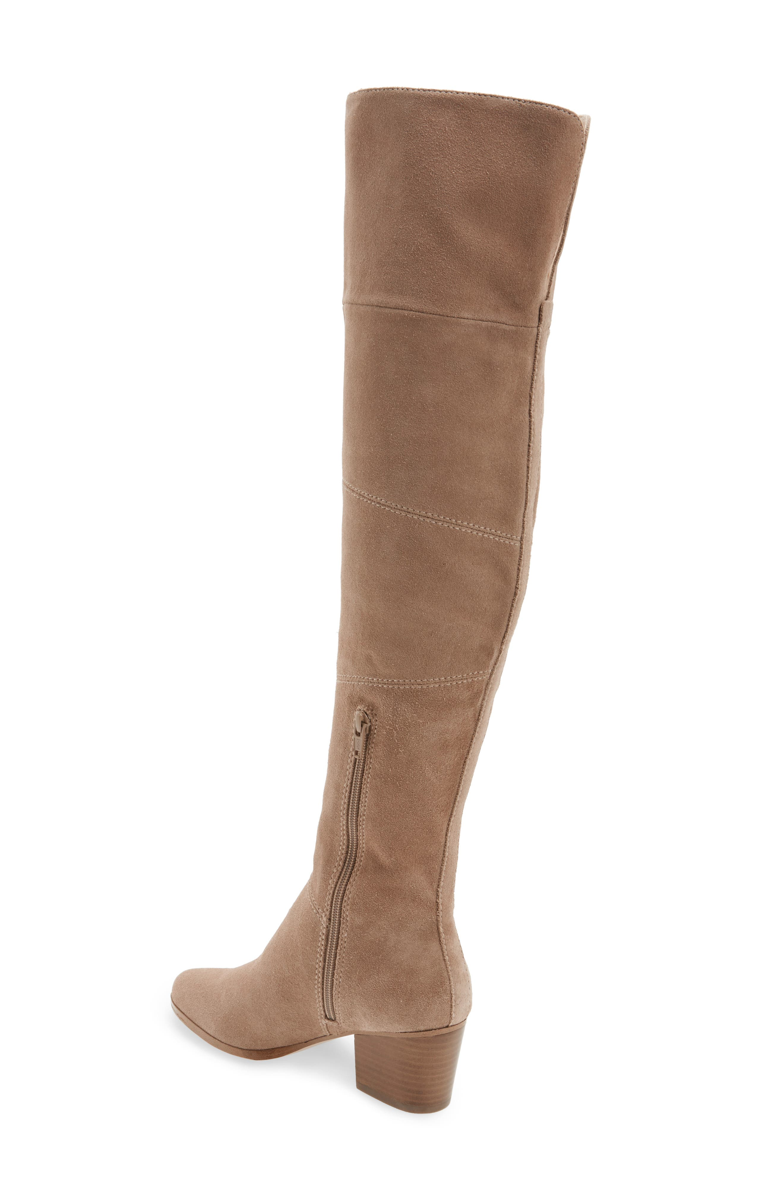 Melbourne Over the Knee Boot,                             Alternate thumbnail 2, color,                             Night Taupe Suede