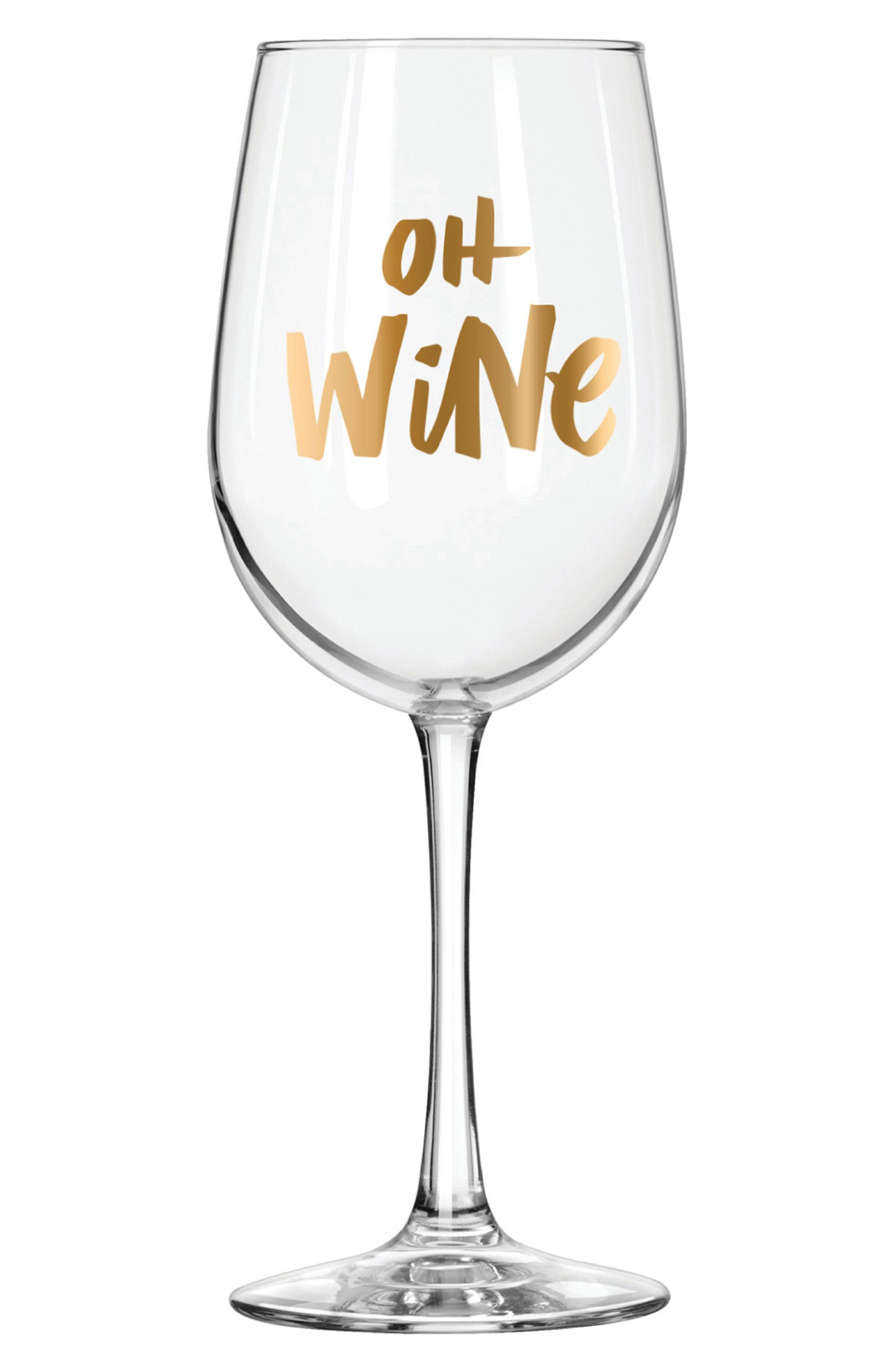 Easy, Tiger Oh Wine Glass