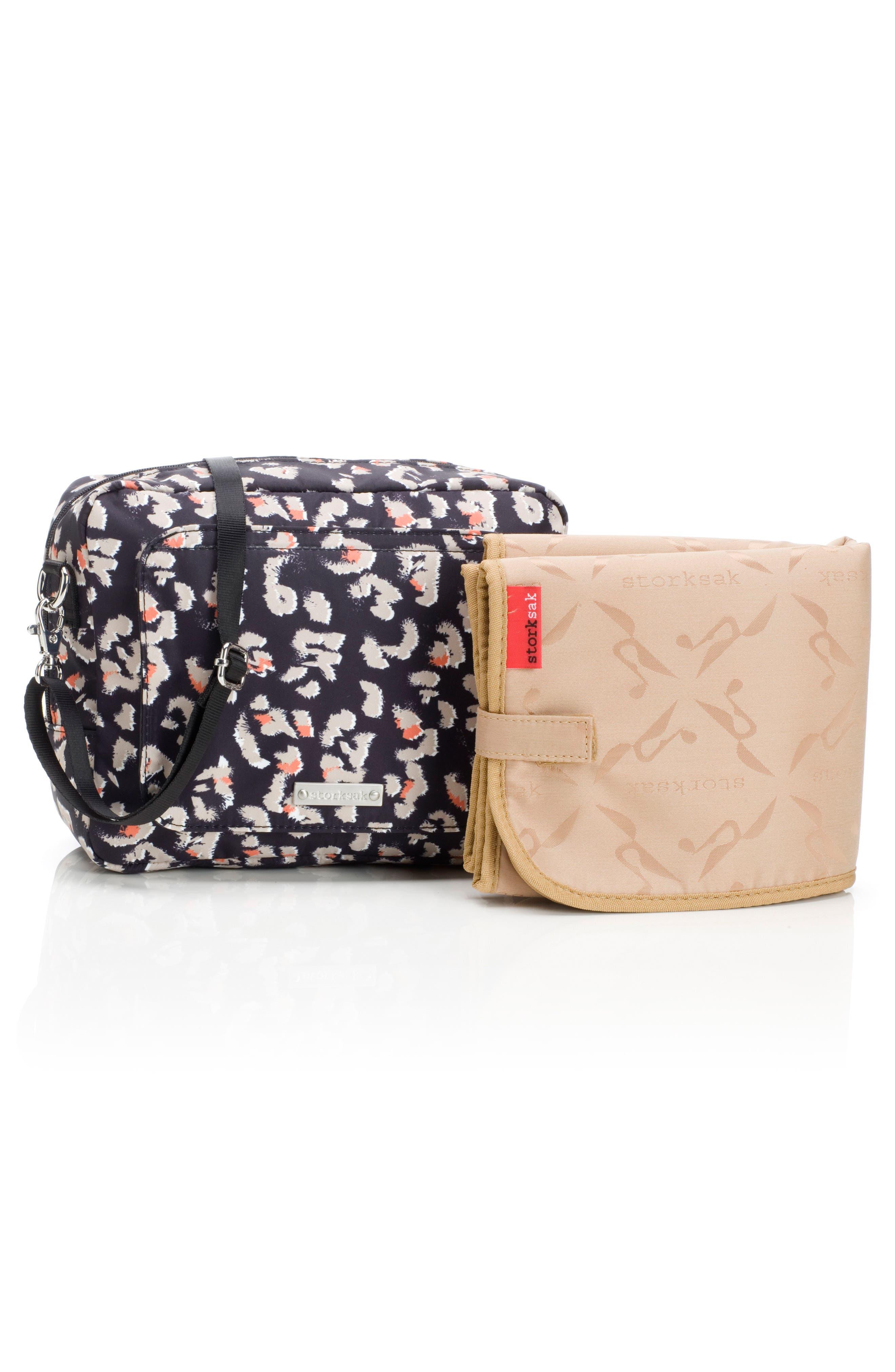 Mini Fix Crossbody Diaper Bag,                             Alternate thumbnail 2, color,                             Leopard