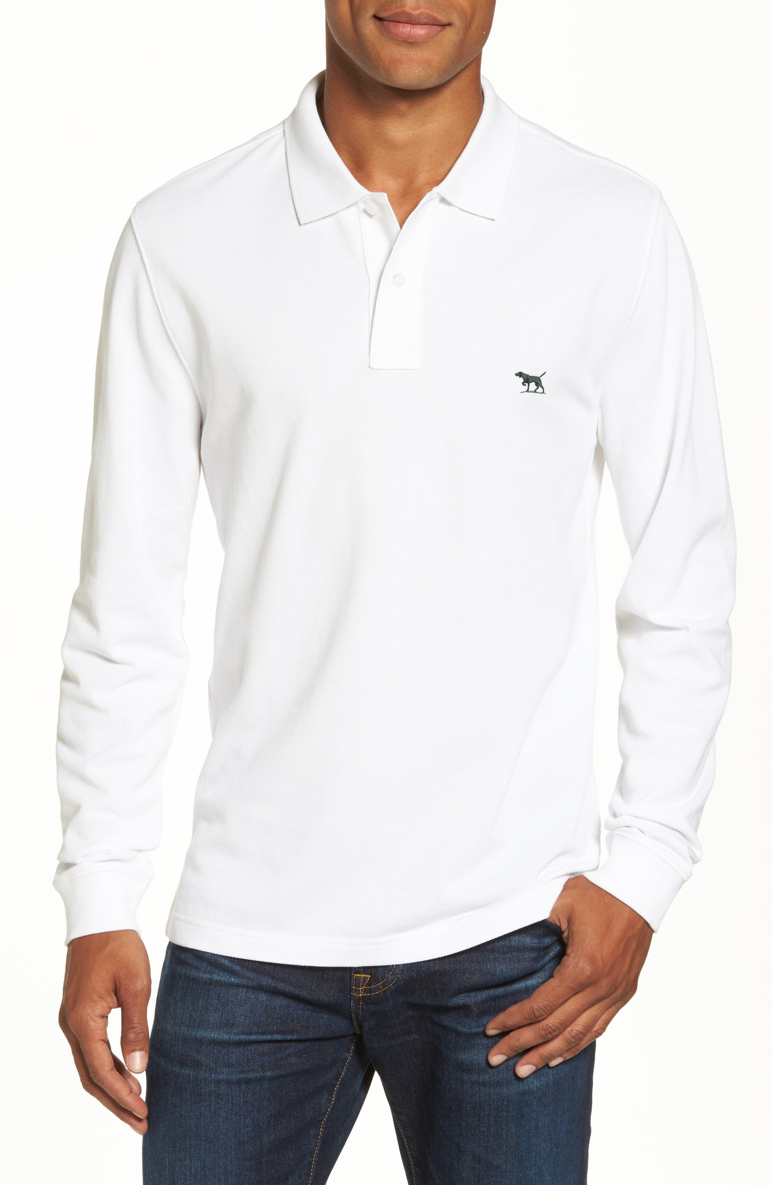 Gunn Piqué Polo,                         Main,                         color, White