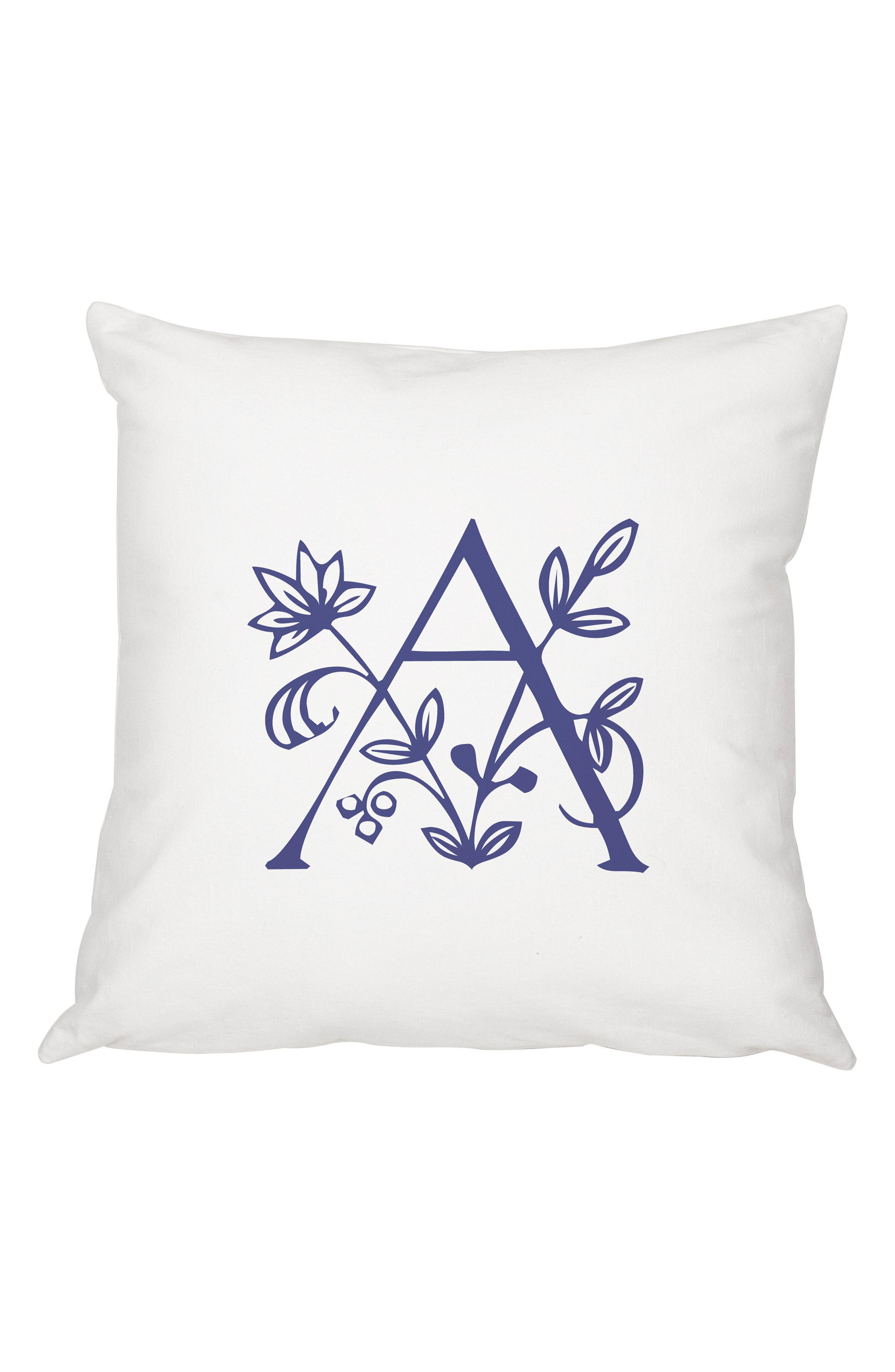 Cathy's Concepts Floral Monogram Accent Pillow