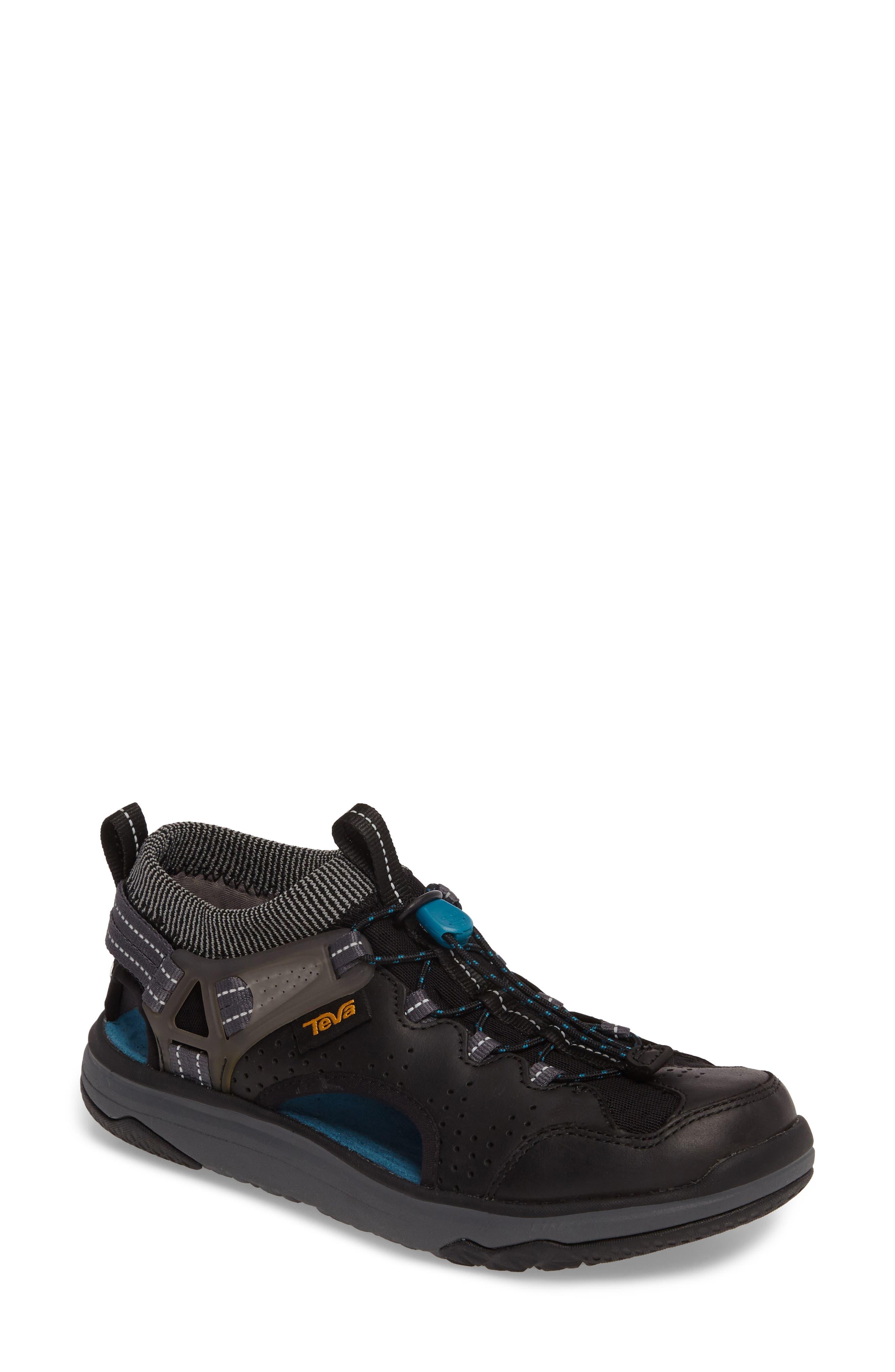 Terra Float Travel Sandal,                         Main,                         color, Black Leather