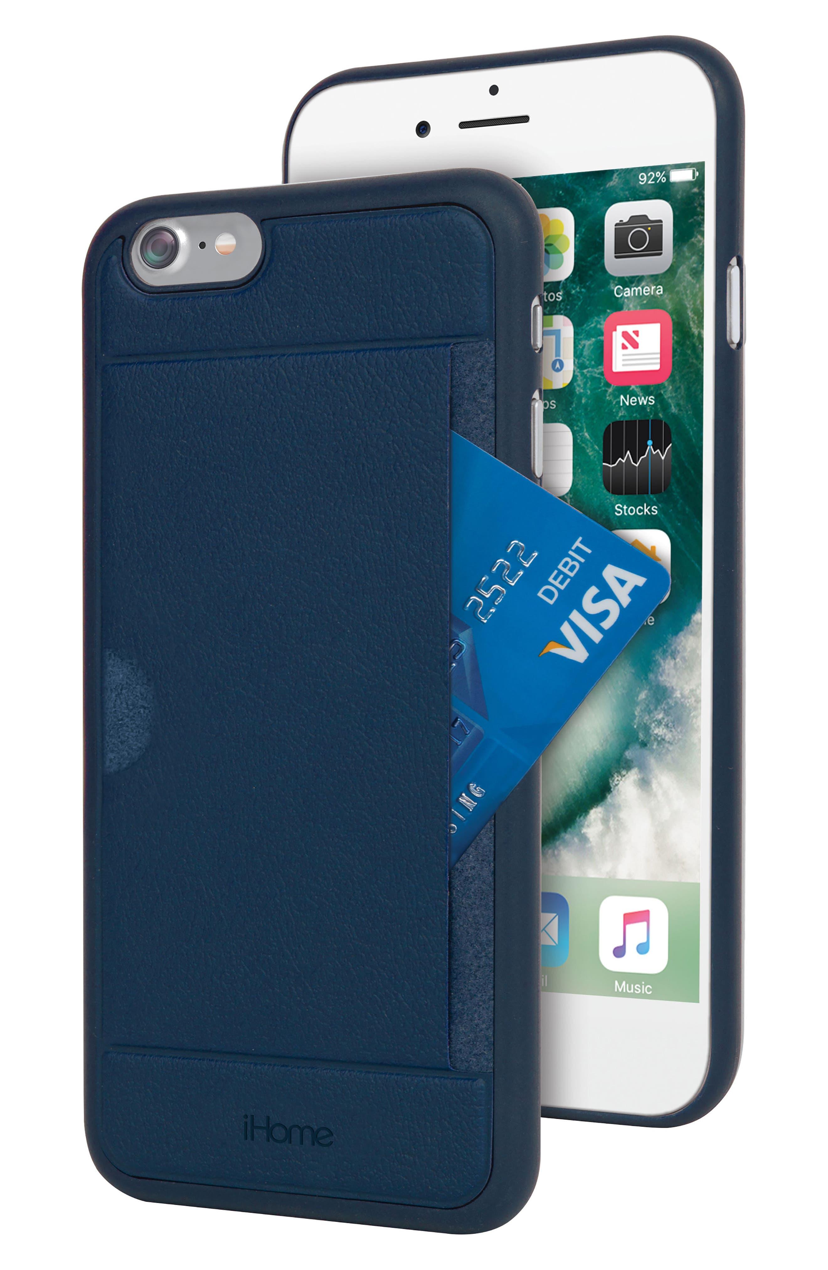 iPhone 7/8 Card Case,                         Main,                         color, Blue