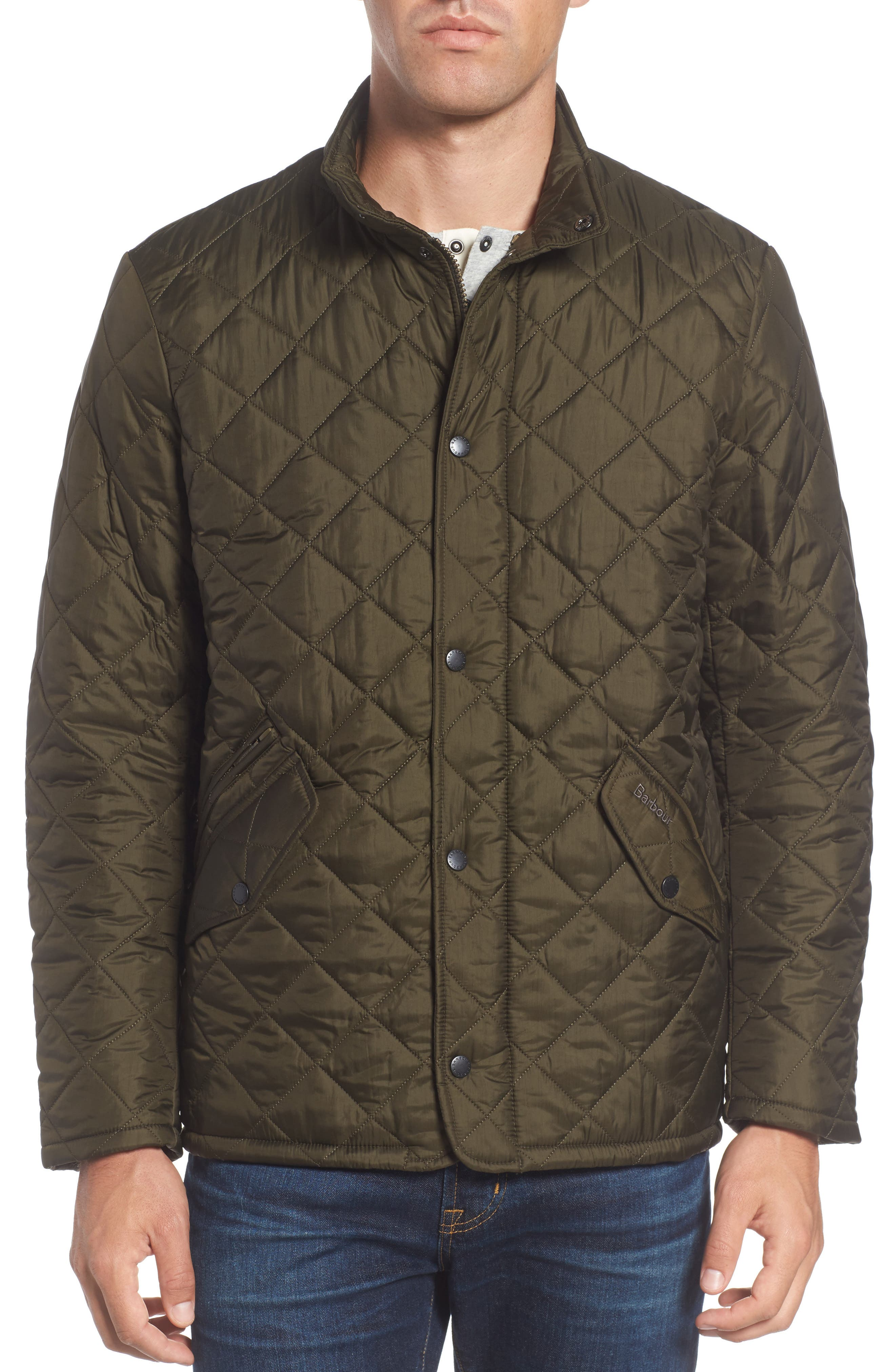 Flyweight Chelsea Quilted Jacket,                             Alternate thumbnail 5, color,                             Olive