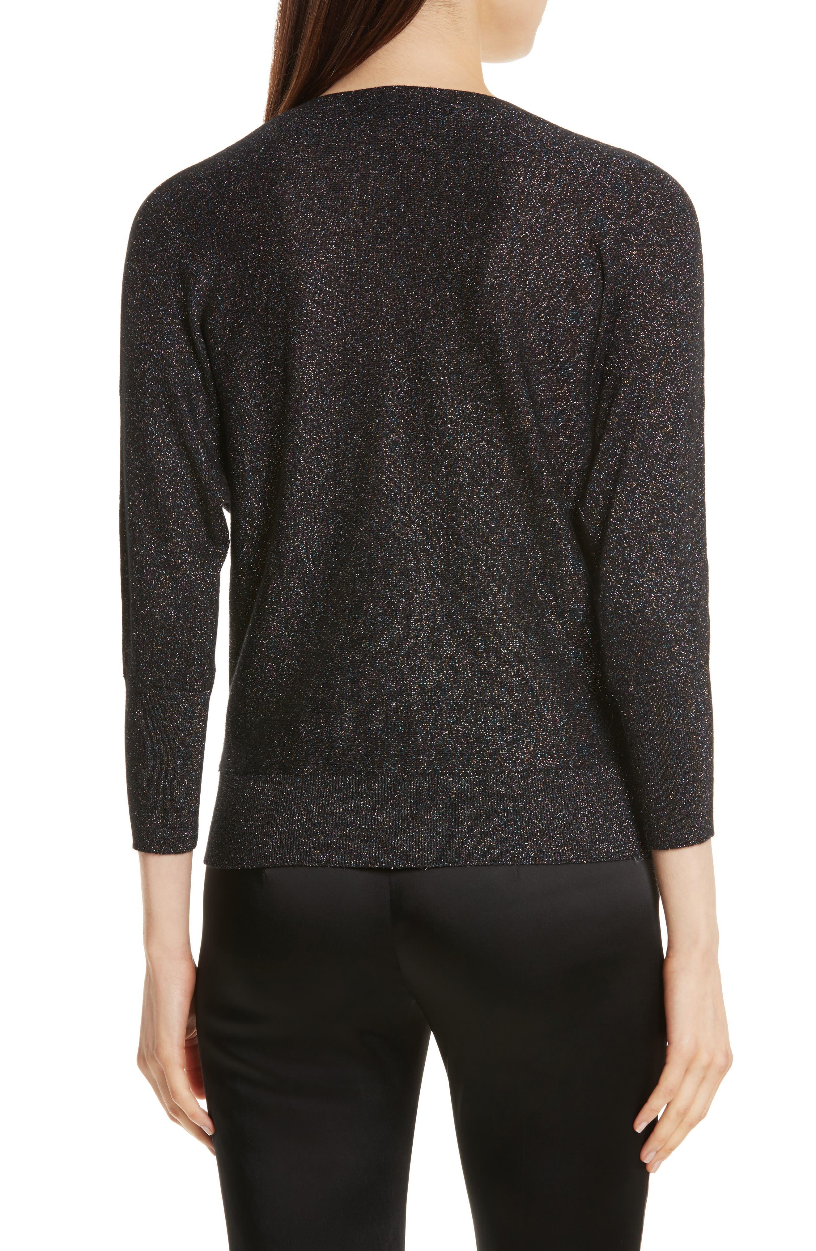 Alternate Image 2  - Milly Metallic Knit Choker Neck Sweater