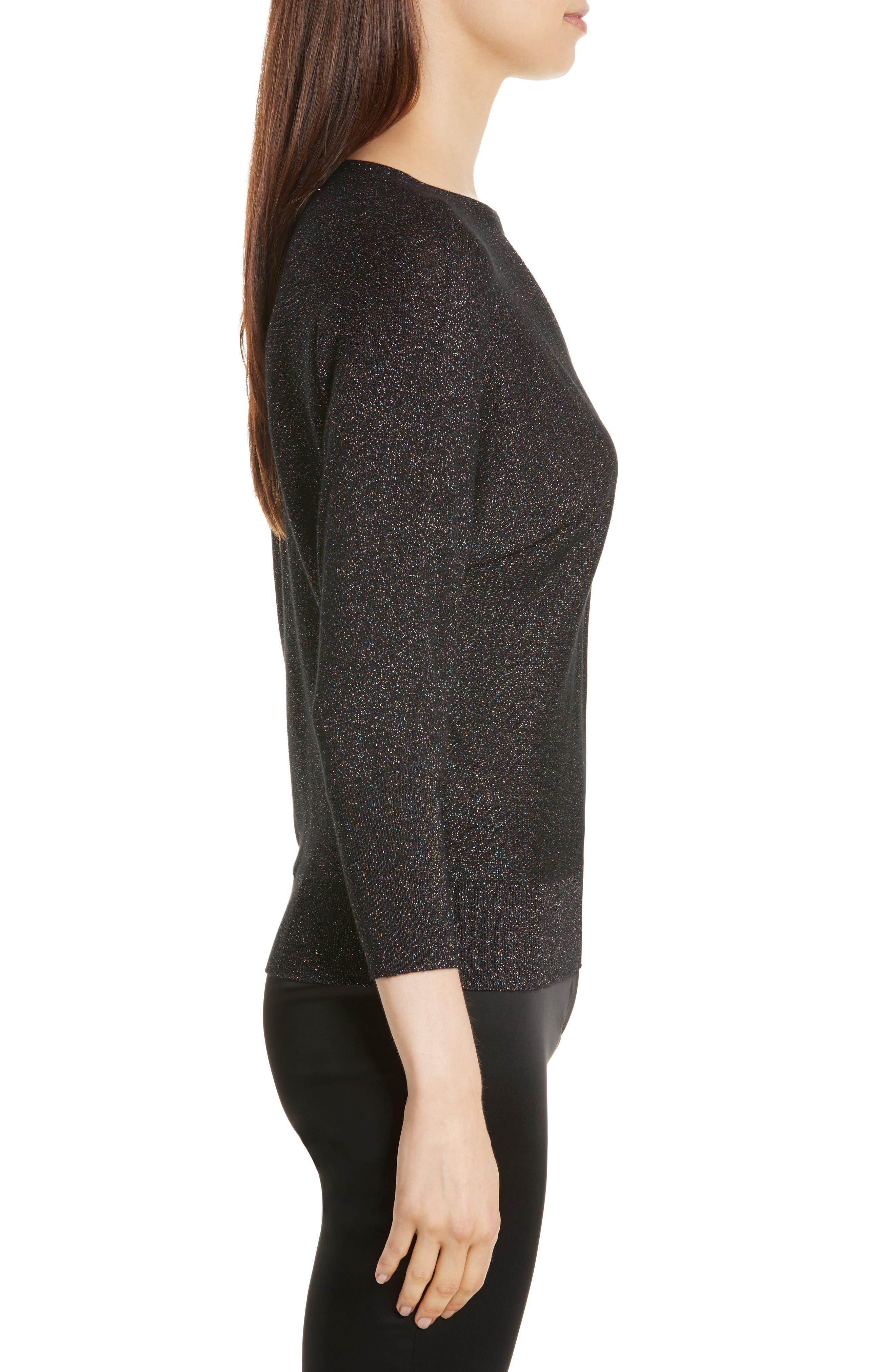 Alternate Image 3  - Milly Metallic Knit Choker Neck Sweater