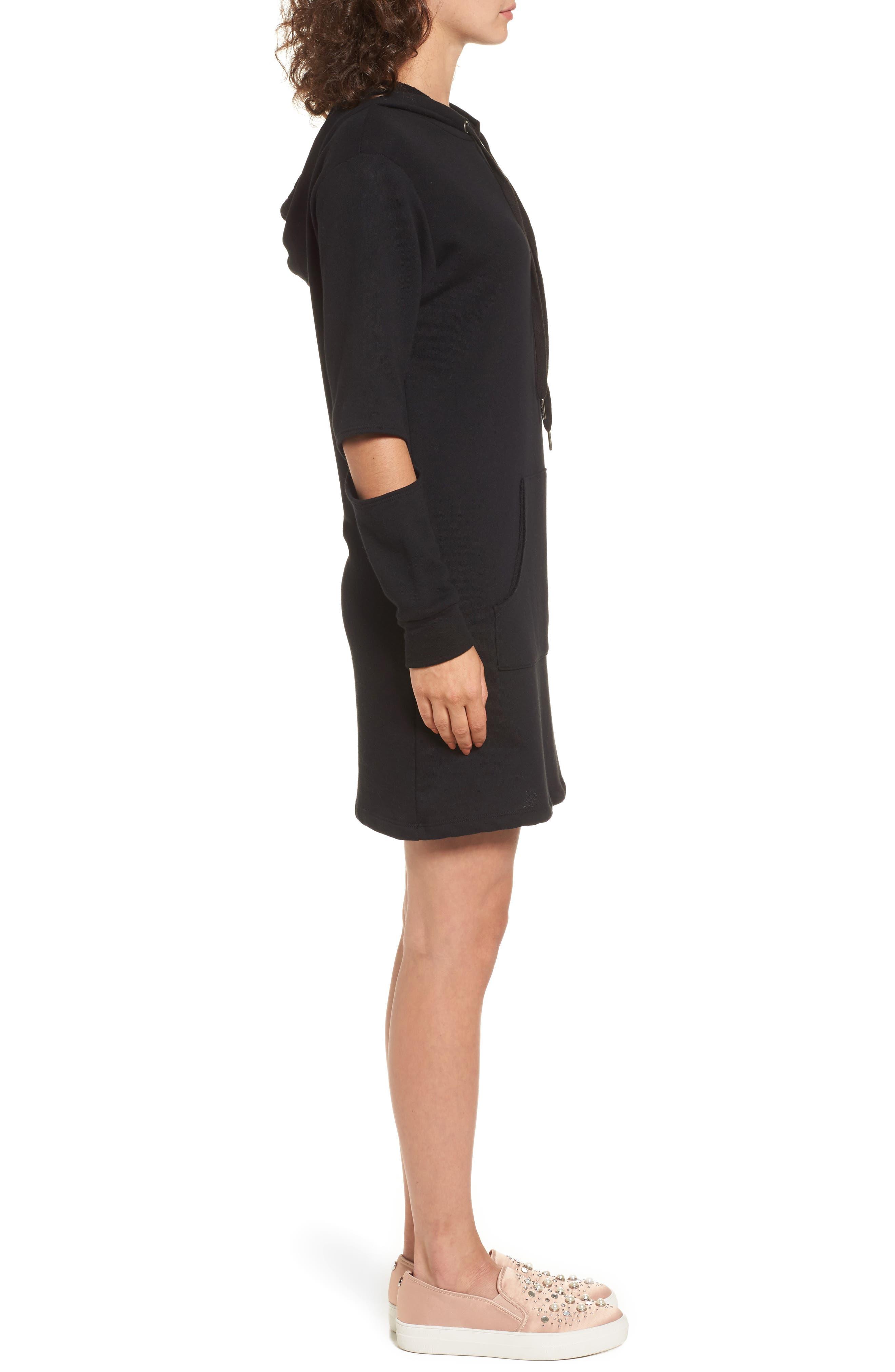 Alternate Image 3  - Socialite Cutout Sleeve Hoodie Dress