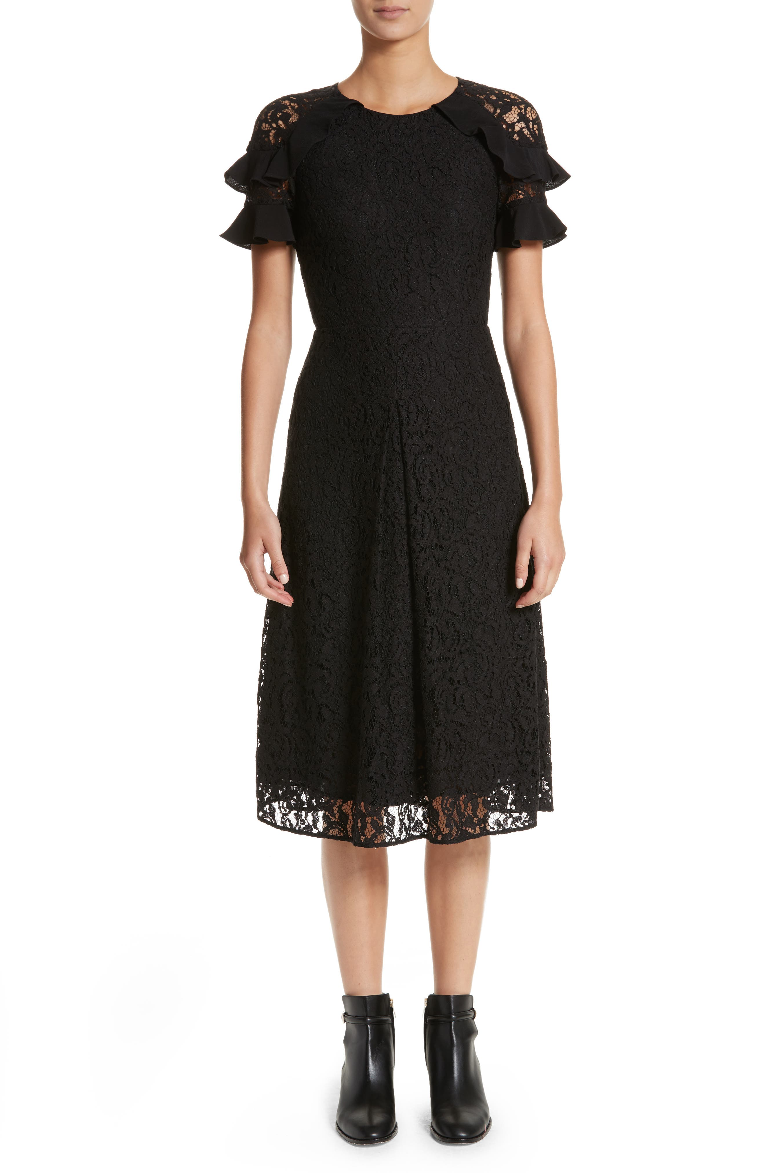 Burberry Zahramf Ruffle Lace Dress