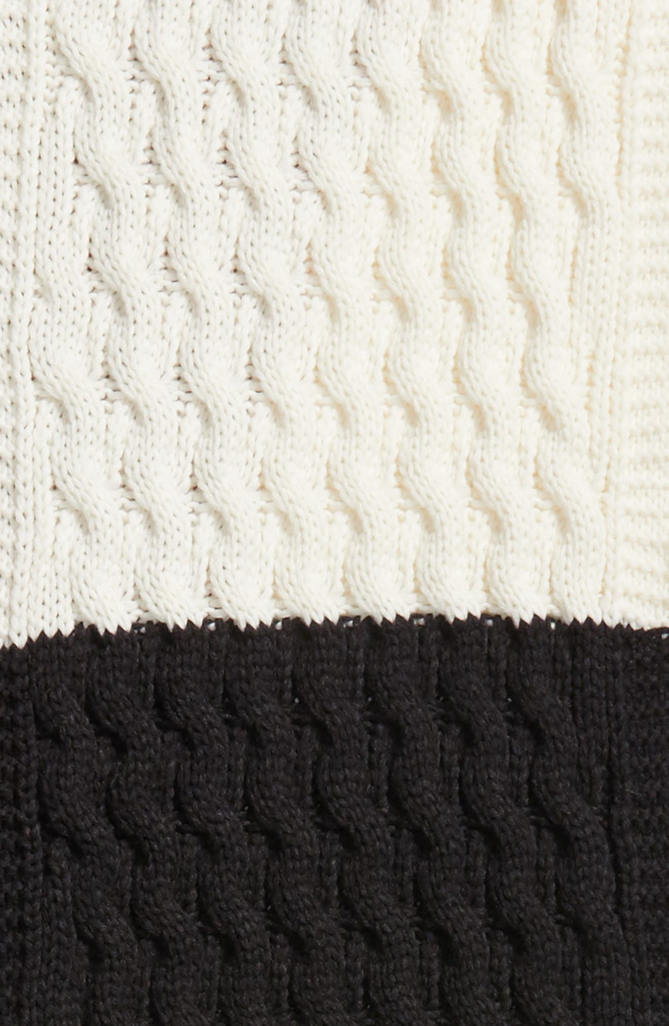 Colorblocked Fringe Scarf,                             Alternate thumbnail 4, color,                             Black Combo