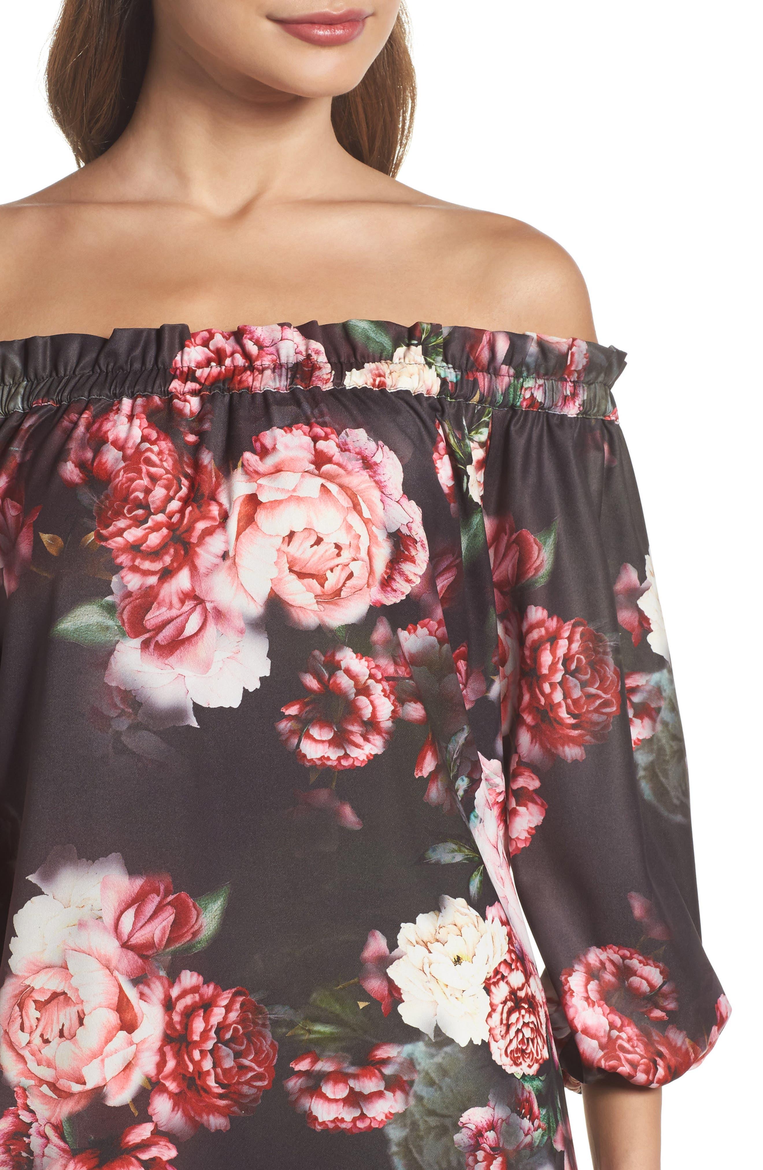 Alternate Image 4  - Felicity & Coco Print Off the Shoulder Shift Dress (Regular & Petite) (Nordstrom Exclusive)