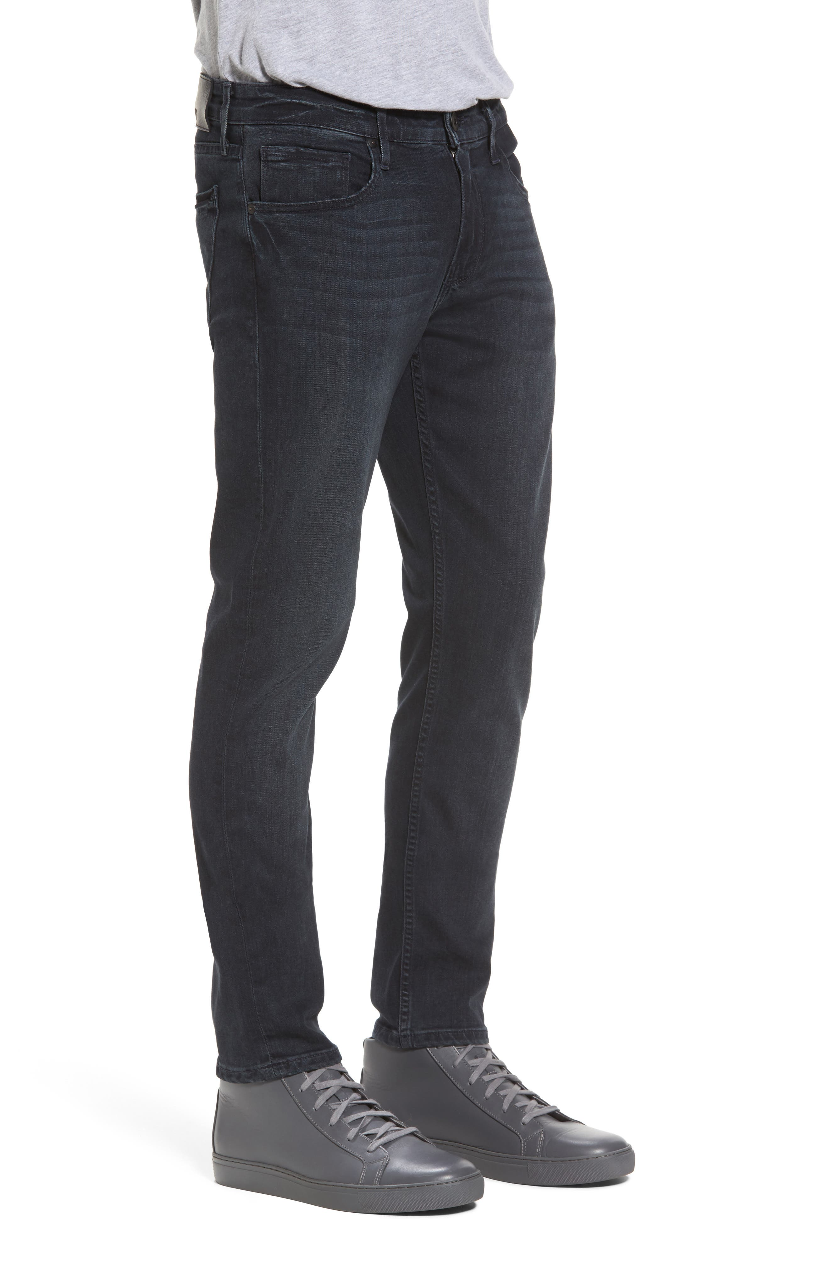 Transcend - Croft Skinny Fit Jeans,                             Alternate thumbnail 3, color,                             Beckett