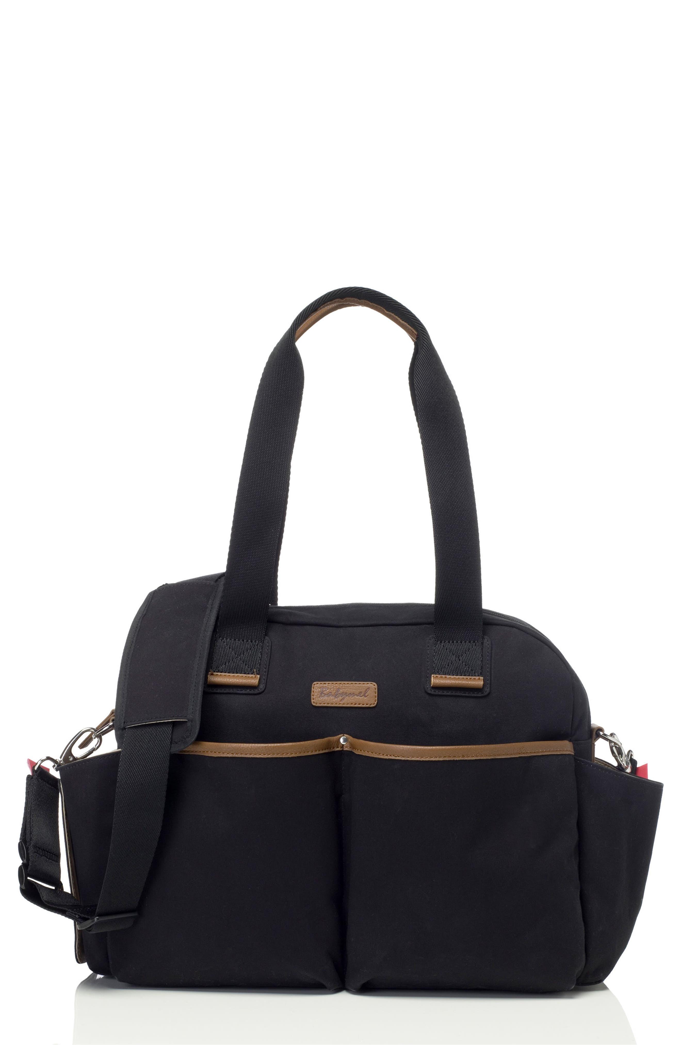 Jesse Diaper Bag,                         Main,                         color, Black