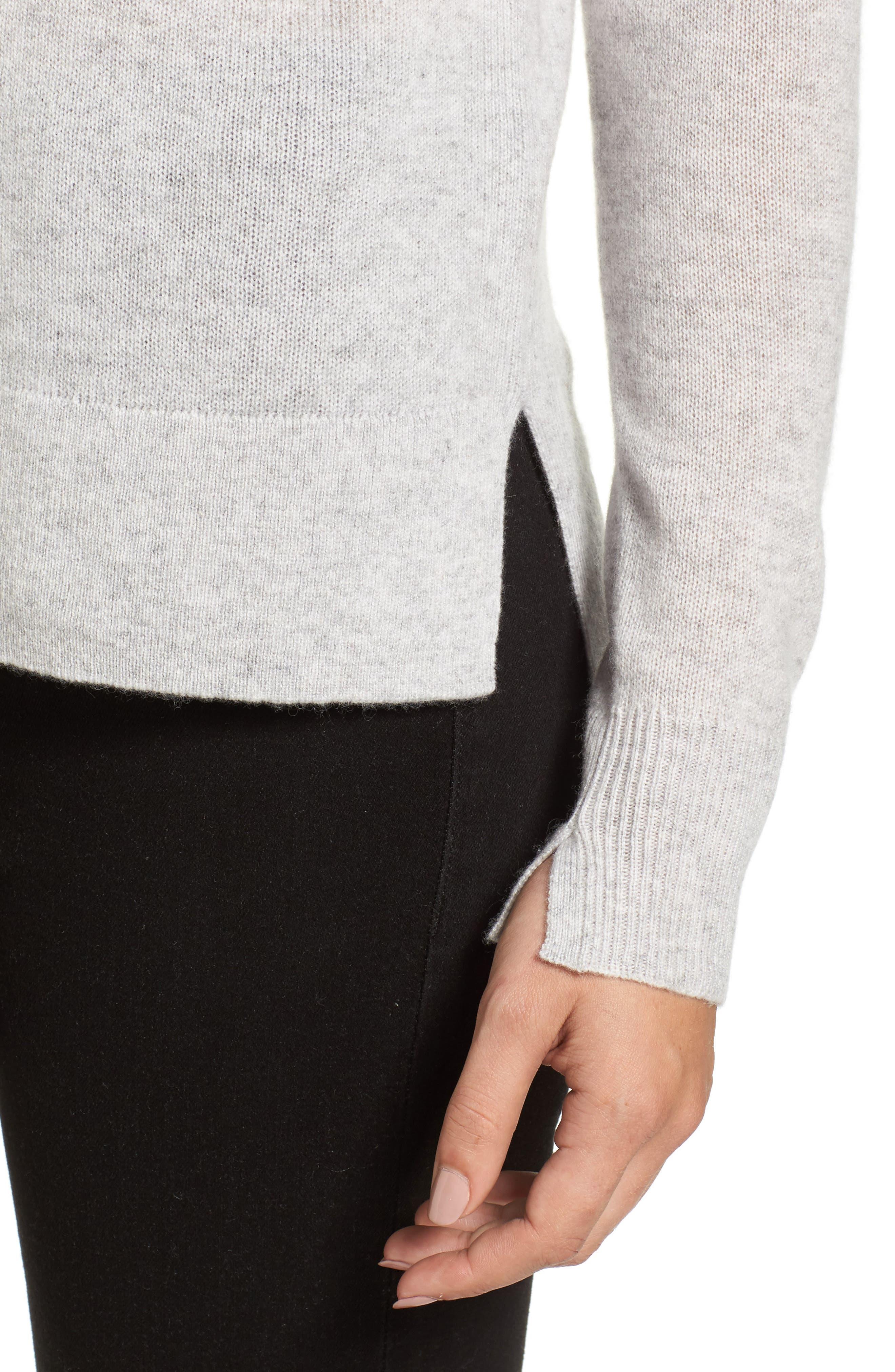 Alternate Image 4  - Halogen® Crewneck Cashmere Sweater (Regular & Petite)