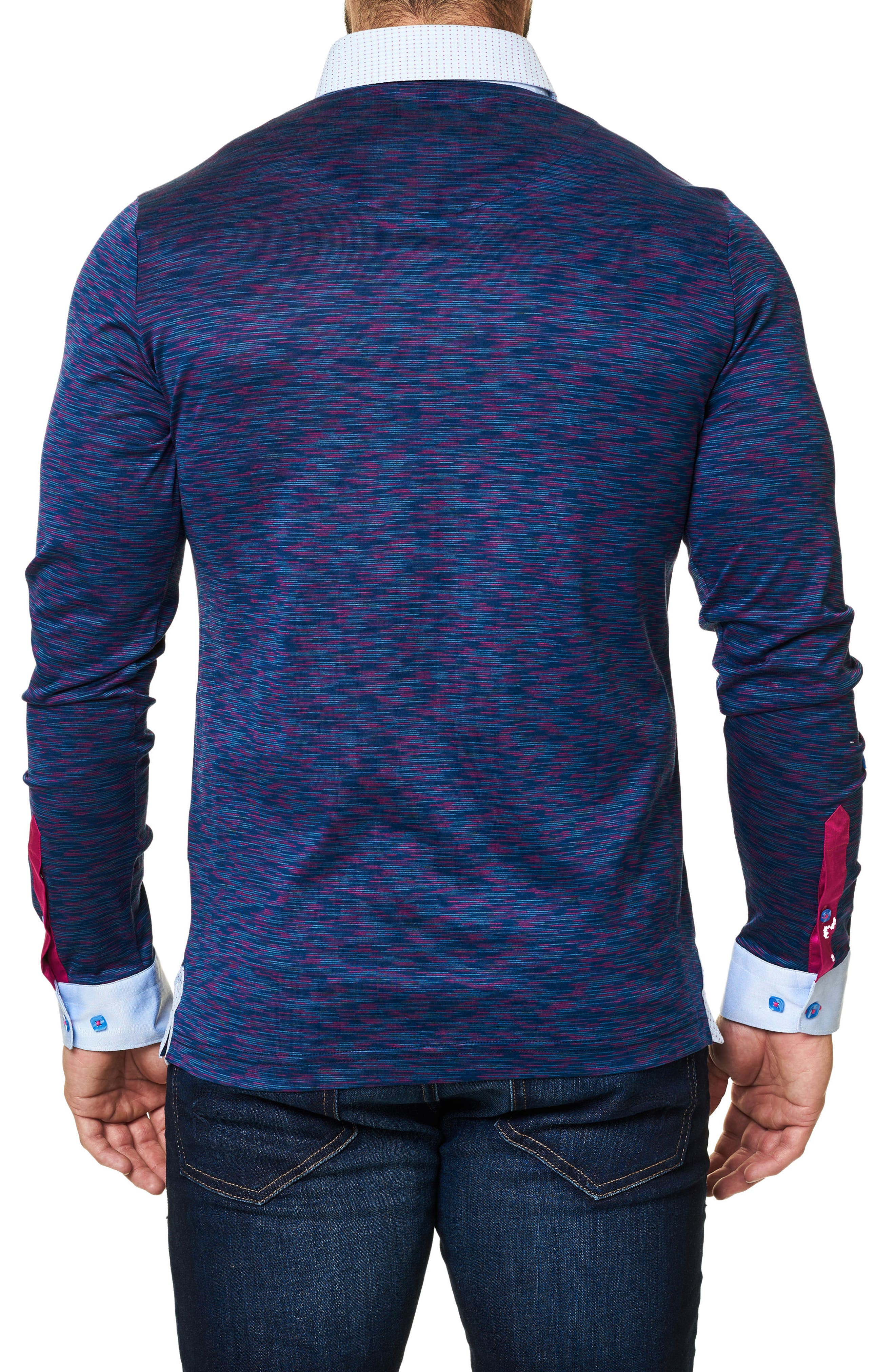 Alternate Image 2  - Maceoo Mélange Long Sleeve Polo