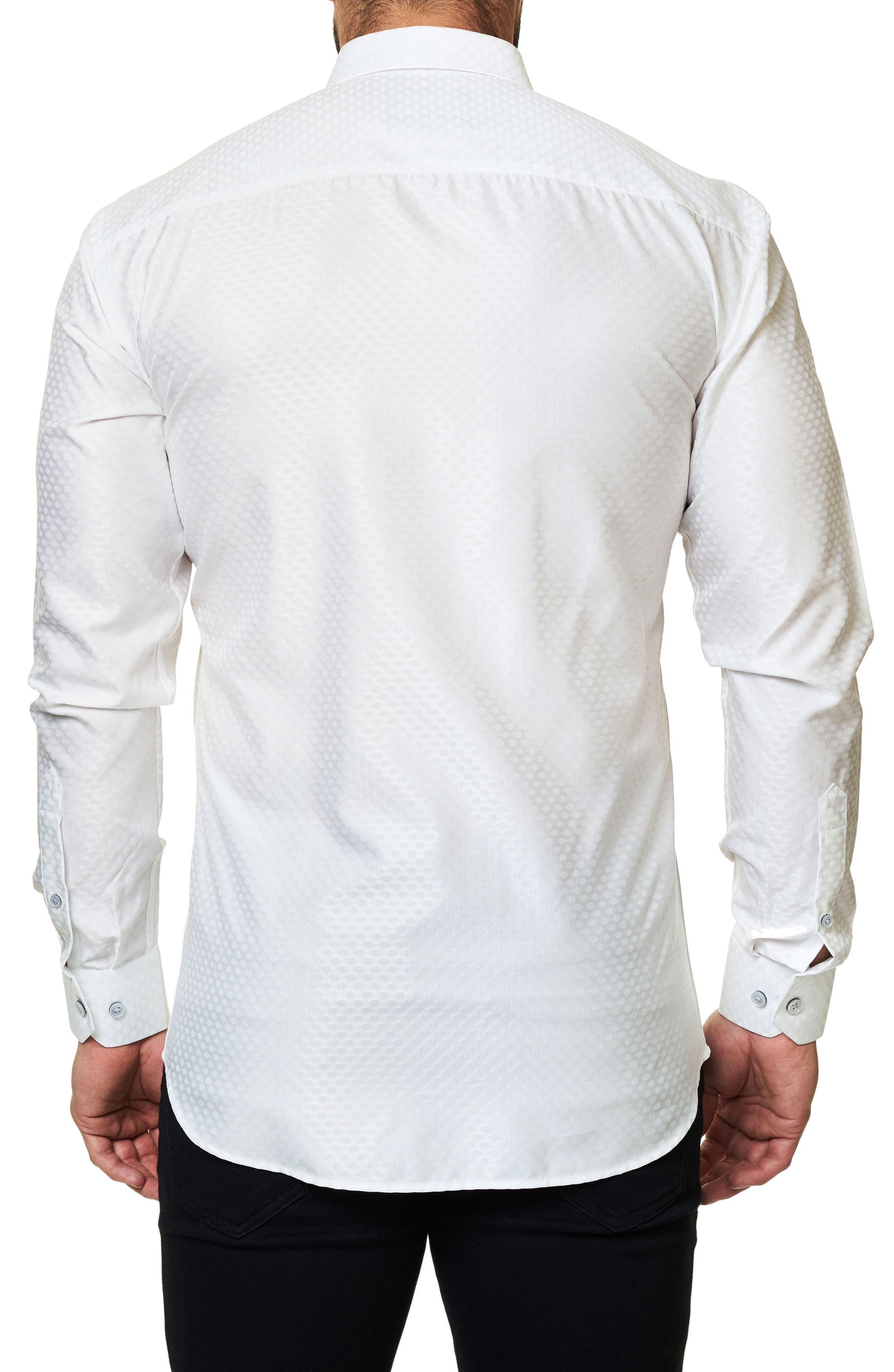Alternate Image 2  - Maceoo Trim Fit Dot Print Sport Shirt