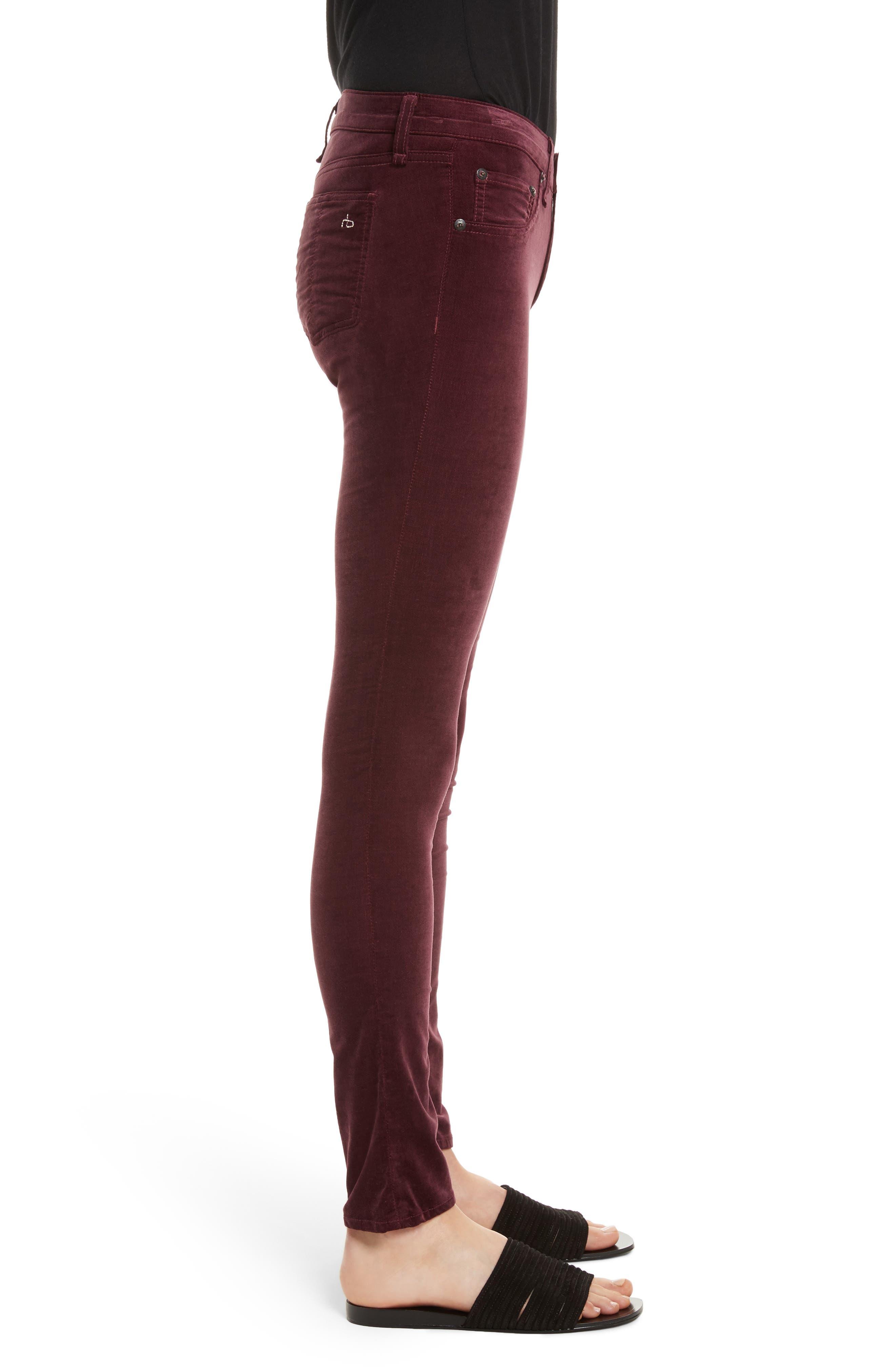 Alternate Image 3  - rag & bone/JEAN Velvet Skinny Jeans