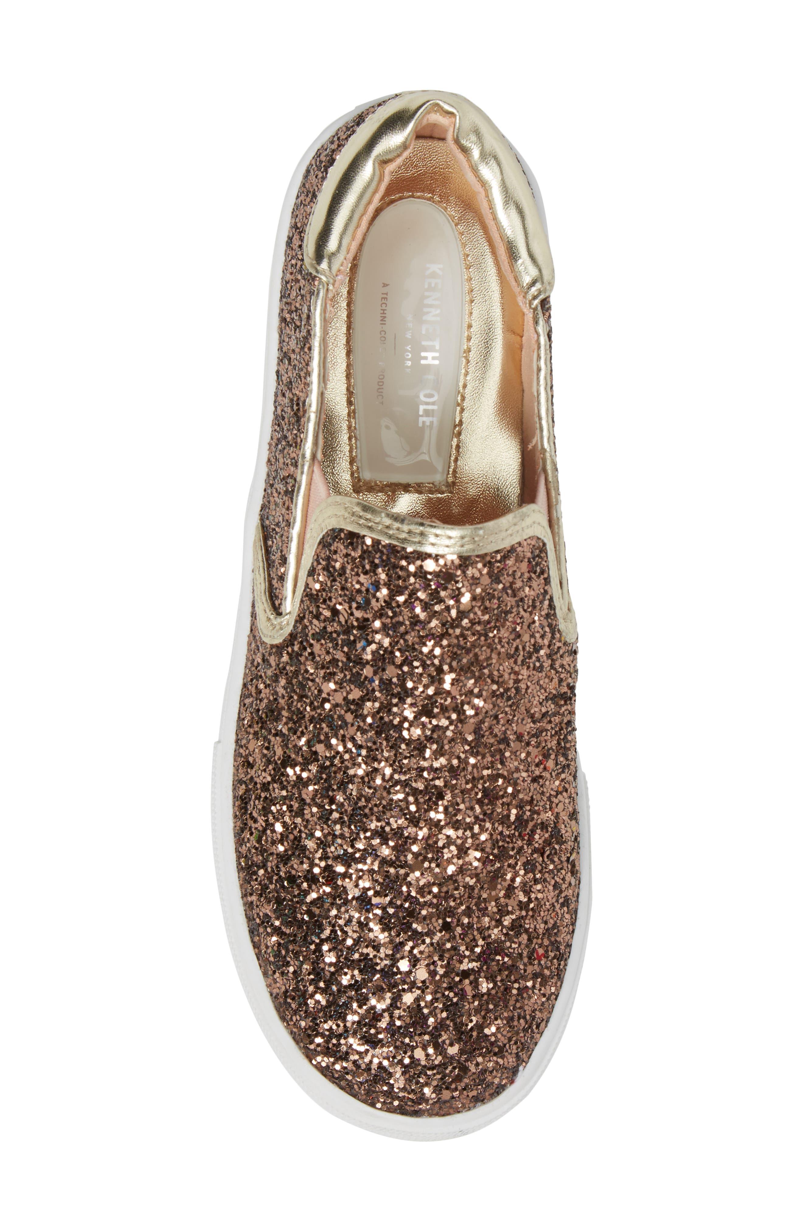 Alternate Image 5  - Kenneth Cole New York Cami Slip-On Glitter Sneaker (Toddler, Little Kid & Big Kid)