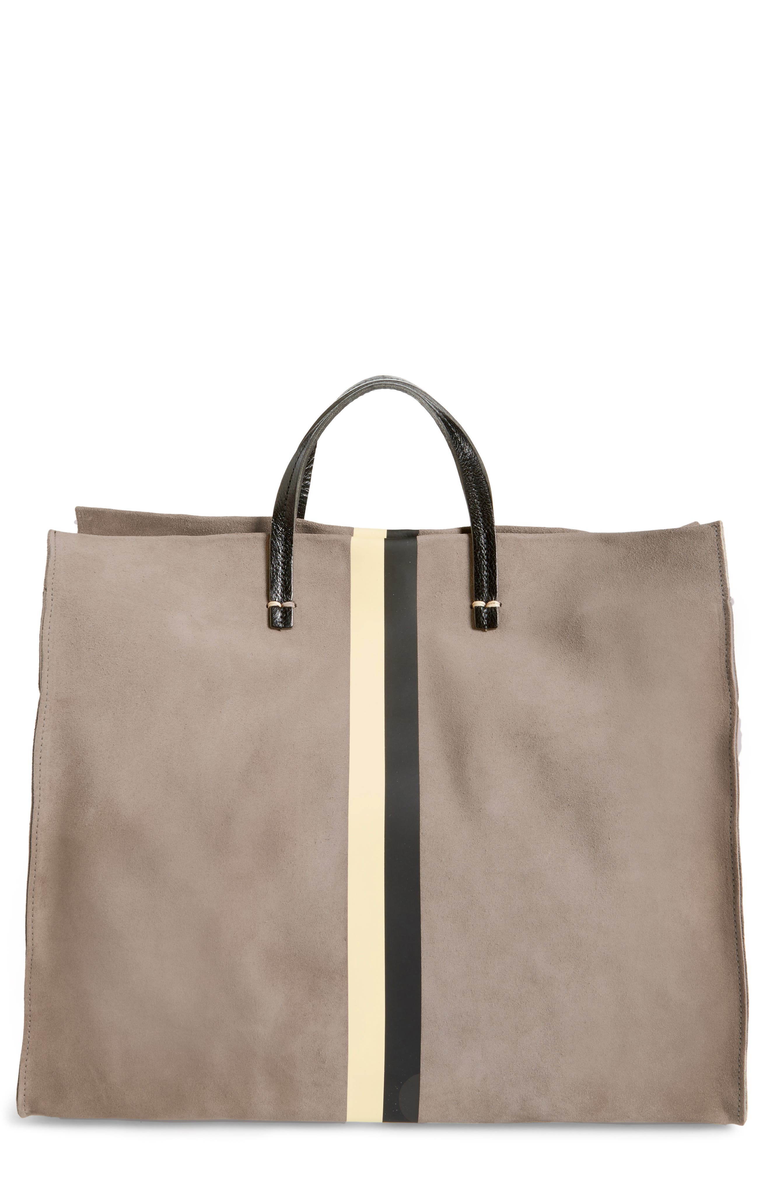 Alternate Image 1 Selected - Clare V. Simple Stripe Suede Tote