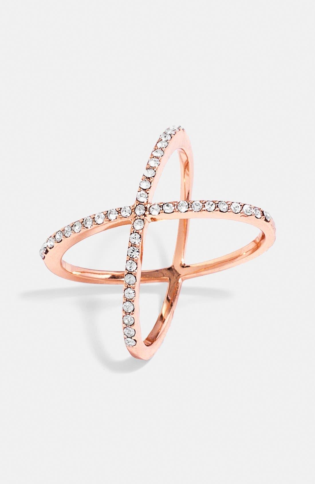 Alternate Image 1 Selected - BaubleBar Crystal 'Mason' Ring