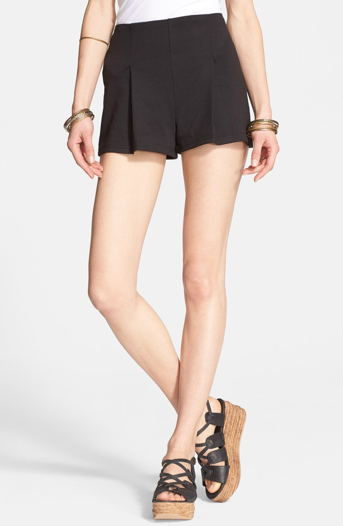 Alternate Image 1 Selected - Free People High Rise Ponte Shorts