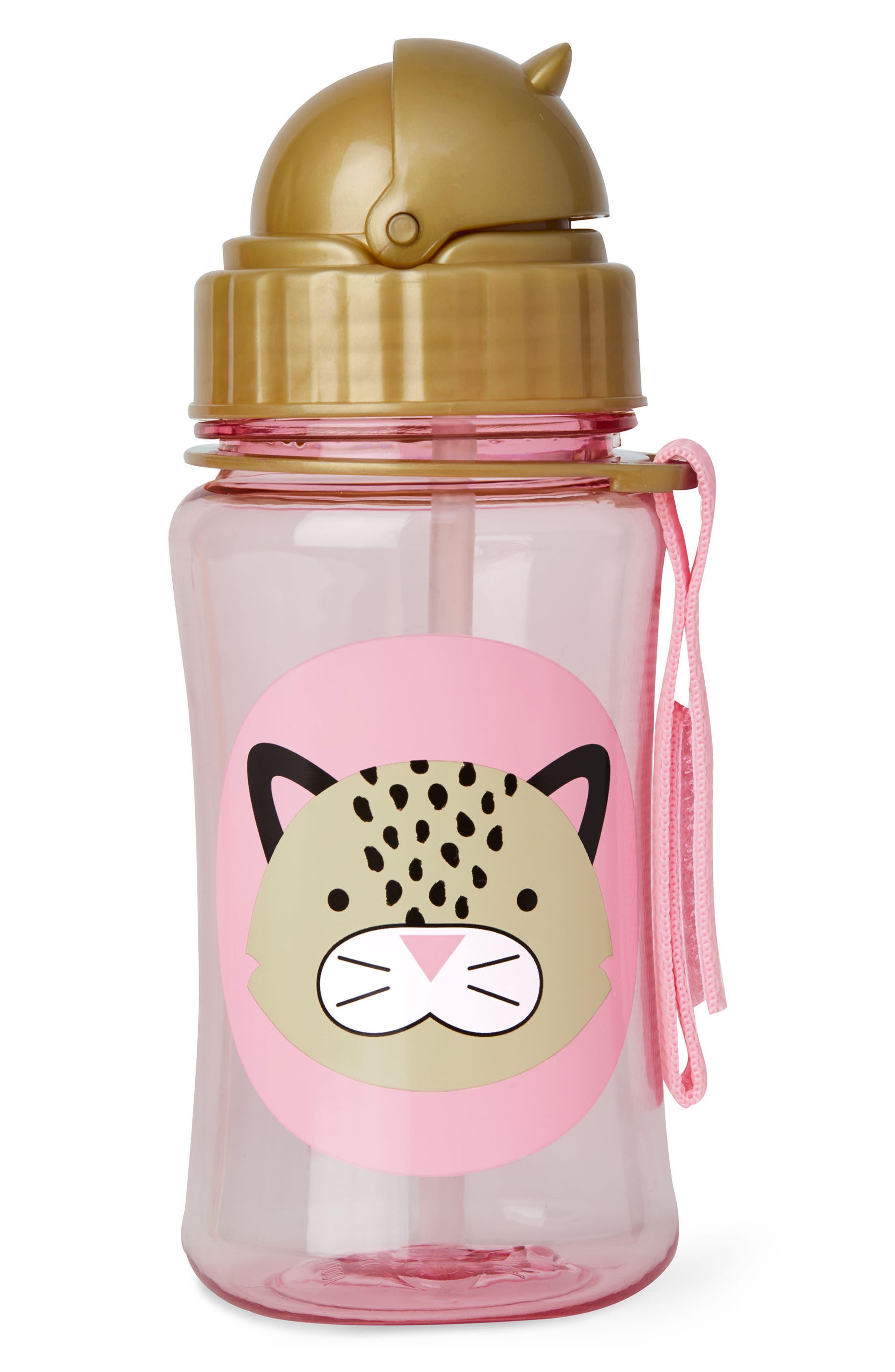 Skip Hop Leopard Zoo Straw Bottle (Kids)