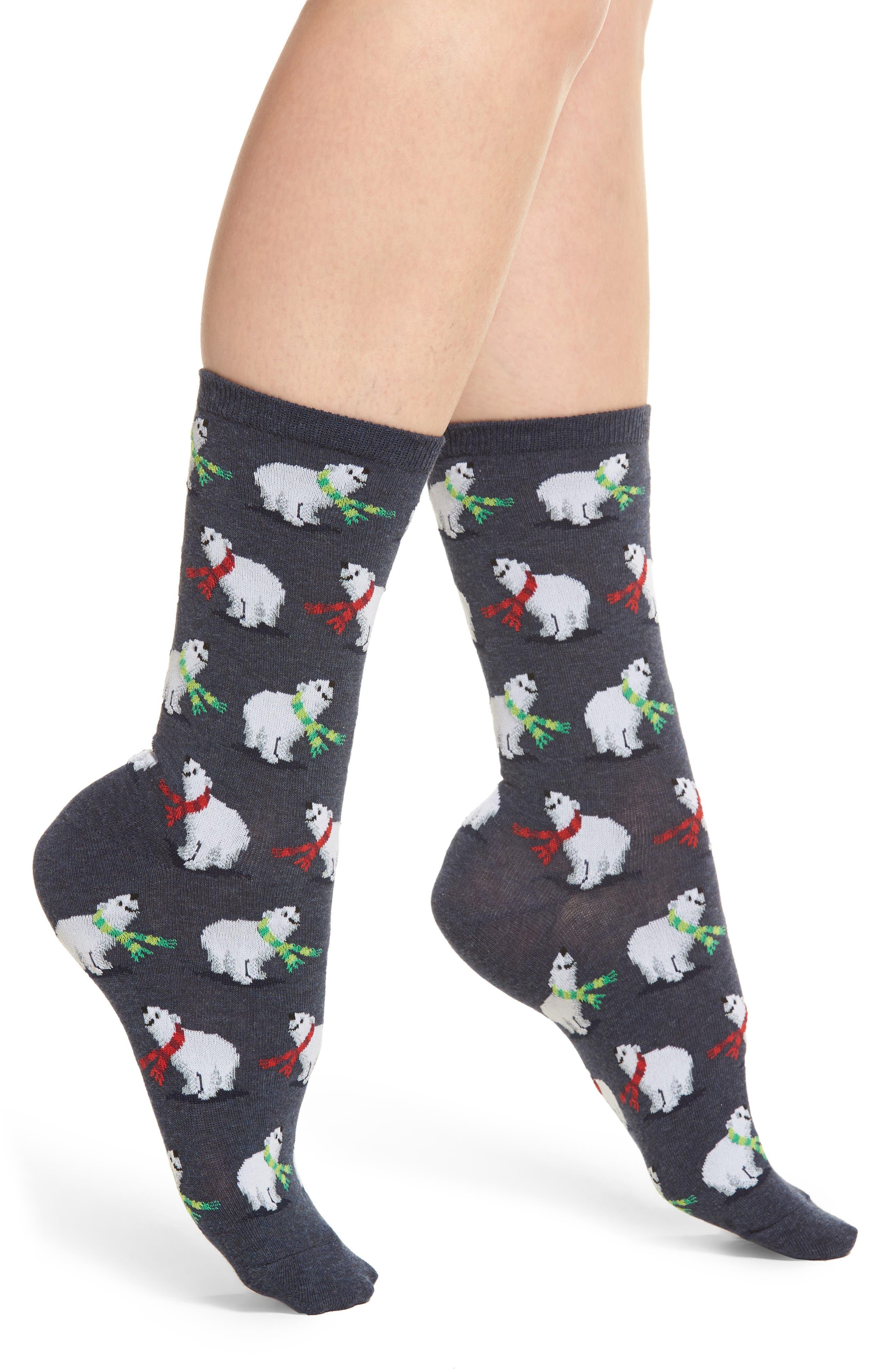 Hot Sox Polar Bears Crew Socks (3 for $15)