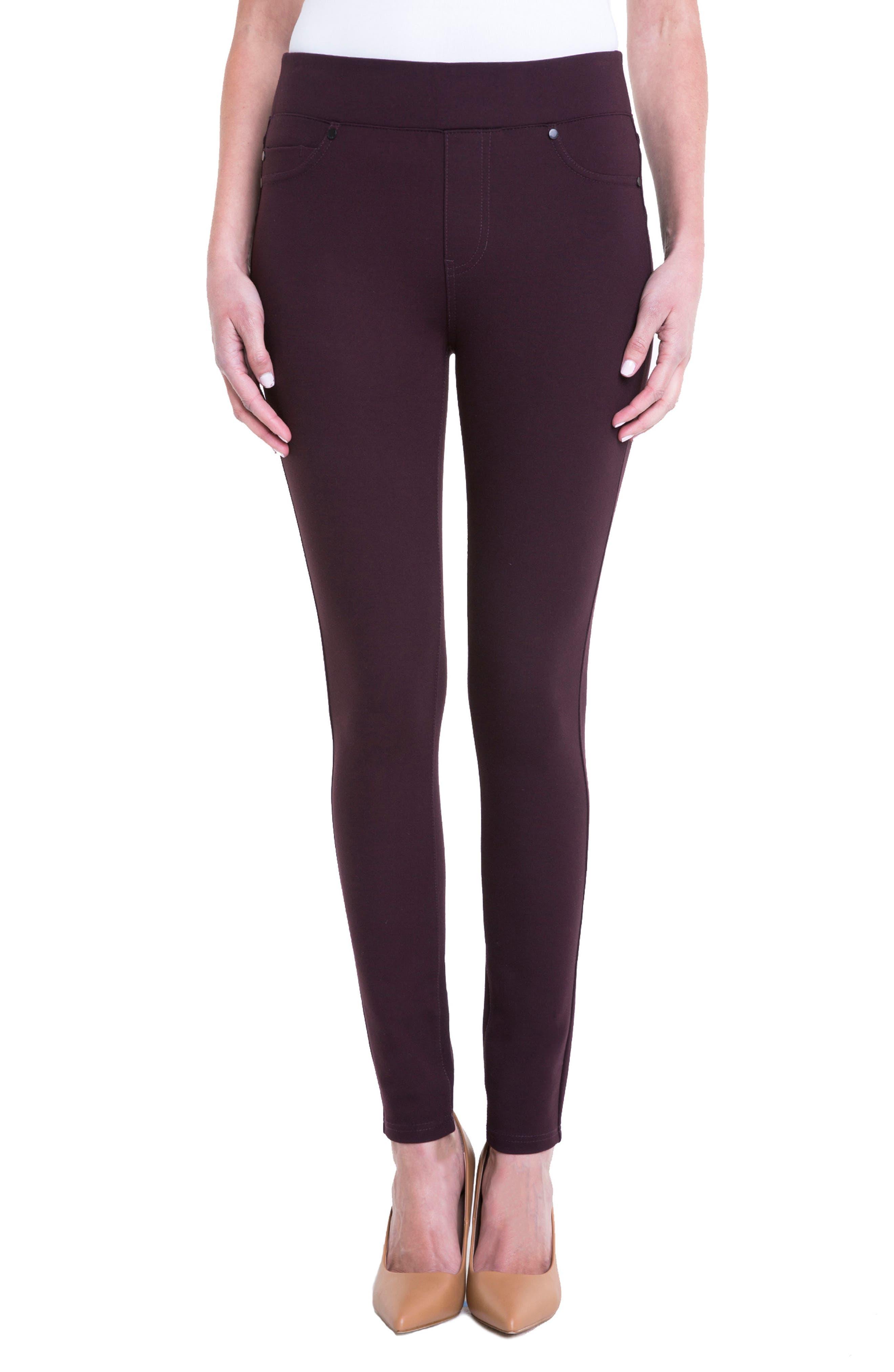 Main Image - Liverpool Jeans Company Piper Hugger Leggings (Aubergine)