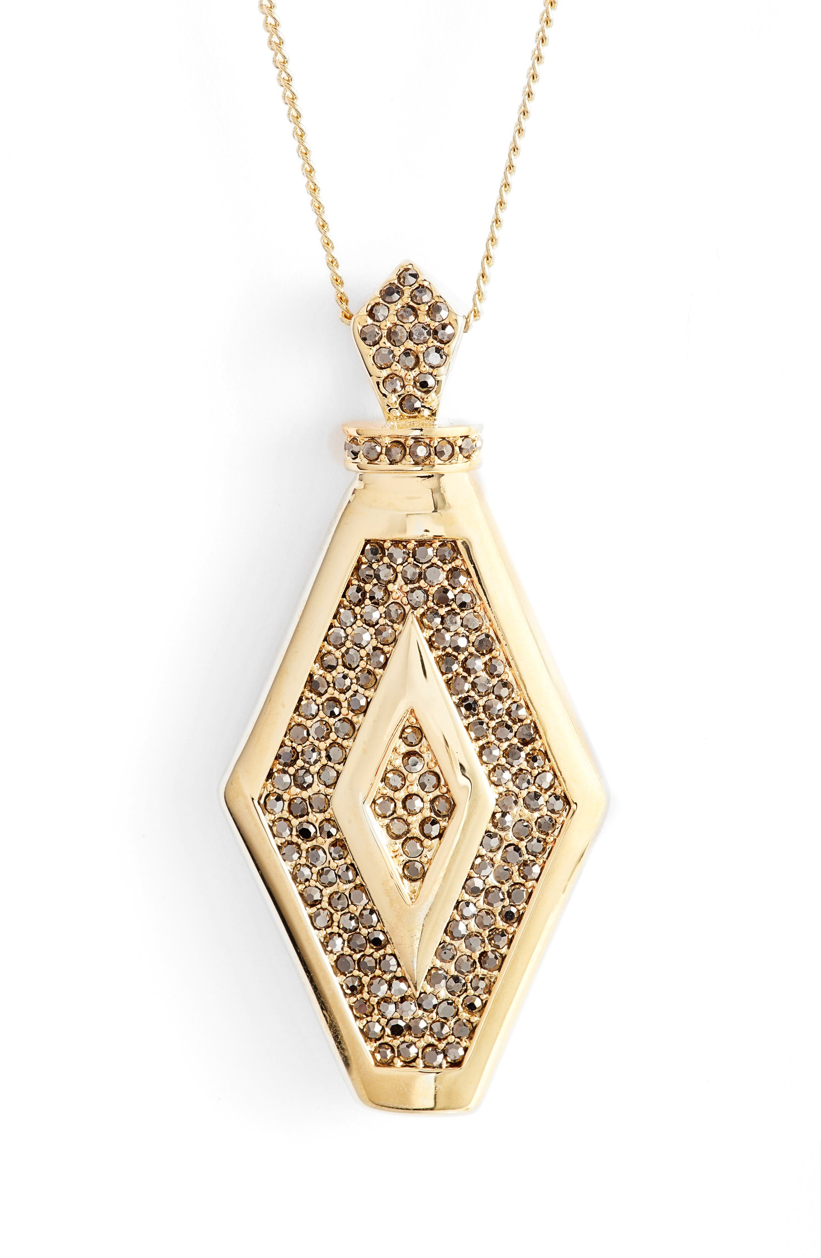 Alternate Image 2  - Vince Camuto Pavé Crystal Pendant Necklace