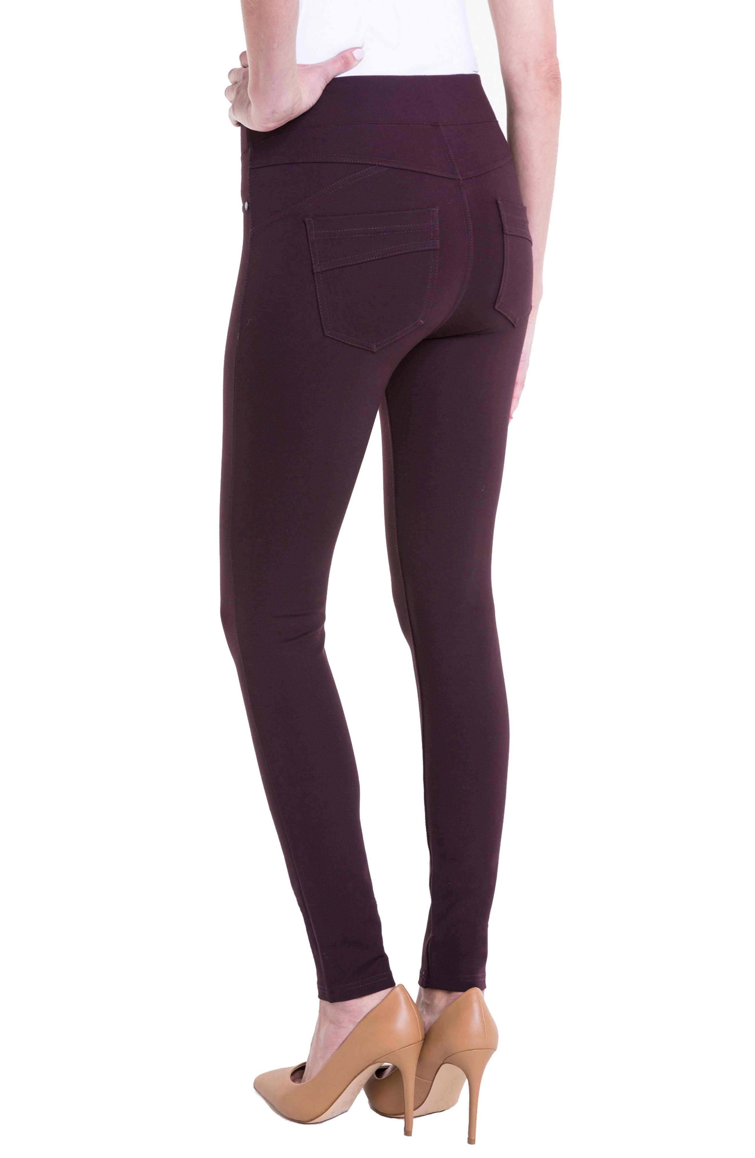 Alternate Image 4  - Liverpool Jeans Company Piper Hugger Leggings (Aubergine)