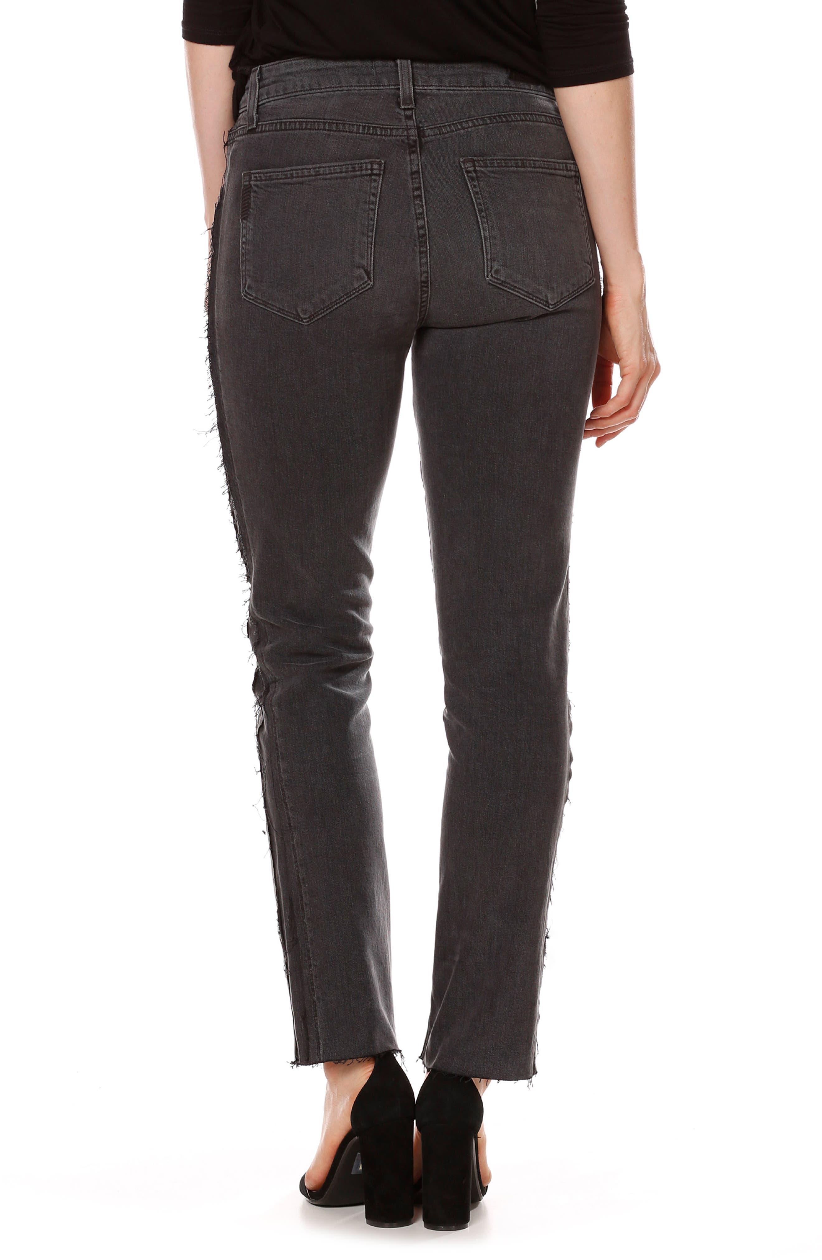 Alternate Image 2  - PAIGE Julia Tux Straight Leg Jeans (Midnight Racer)