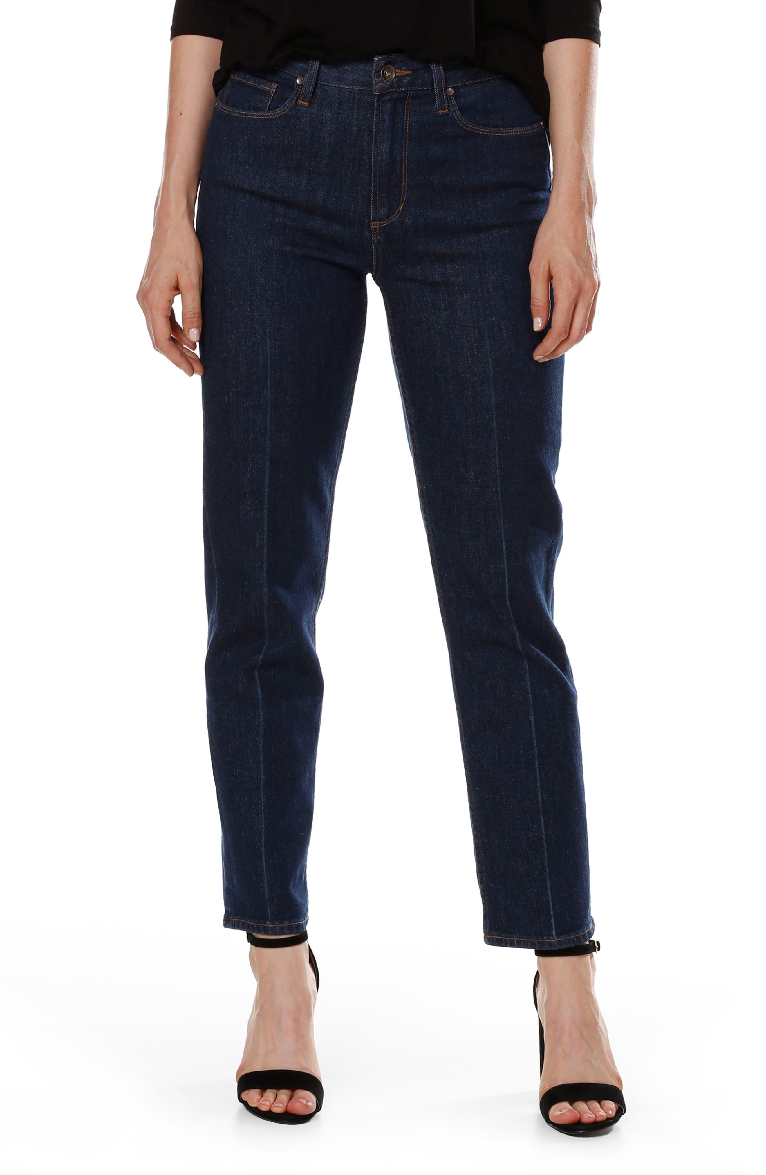 Alternate Image 3  - PAIGE Sarah High Waist Ankle Straight Leg Jeans (Giana)