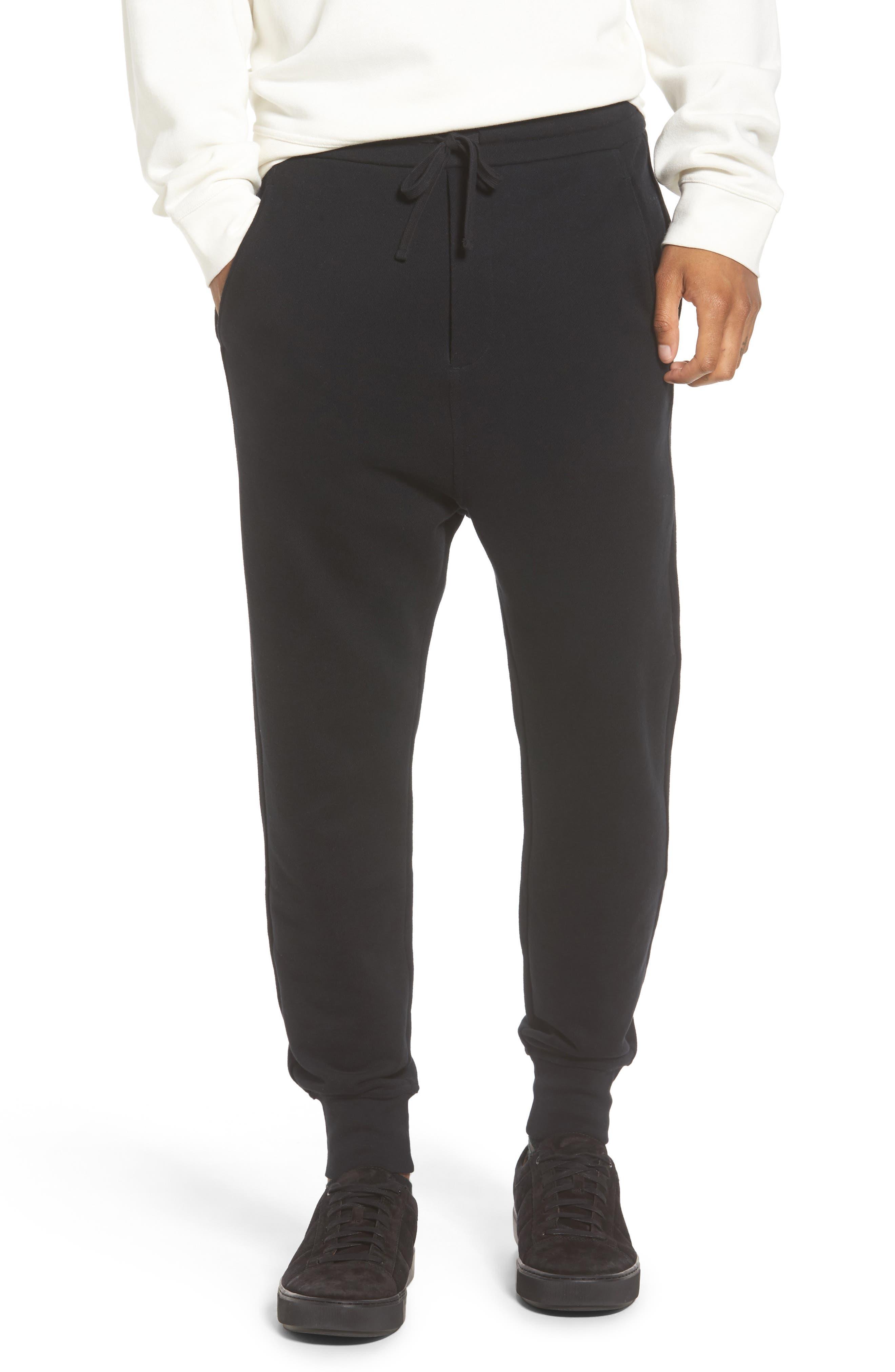 Regular Fit Sweatpants,                             Main thumbnail 1, color,                             Black