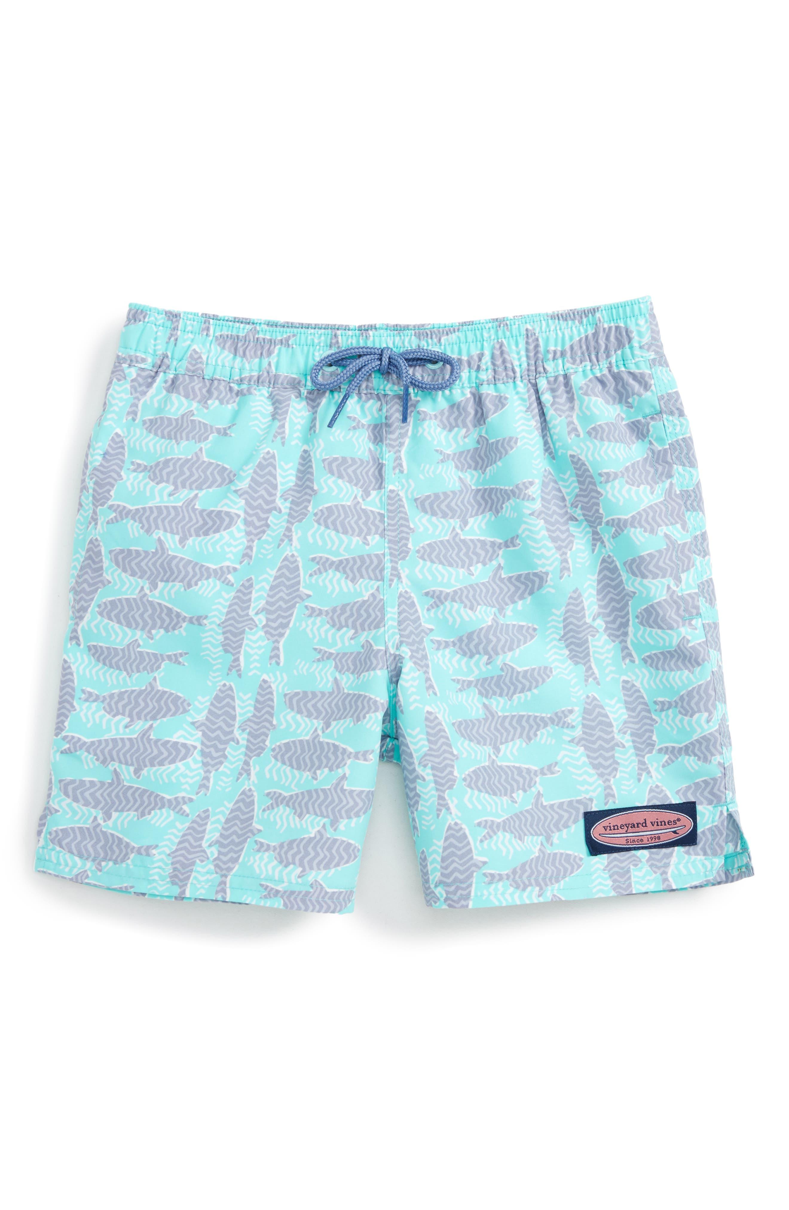 Vineyard Vines Chevron Fish Chappy Swim Trunks (Toddler Boys, Little Boys & Big Boys)