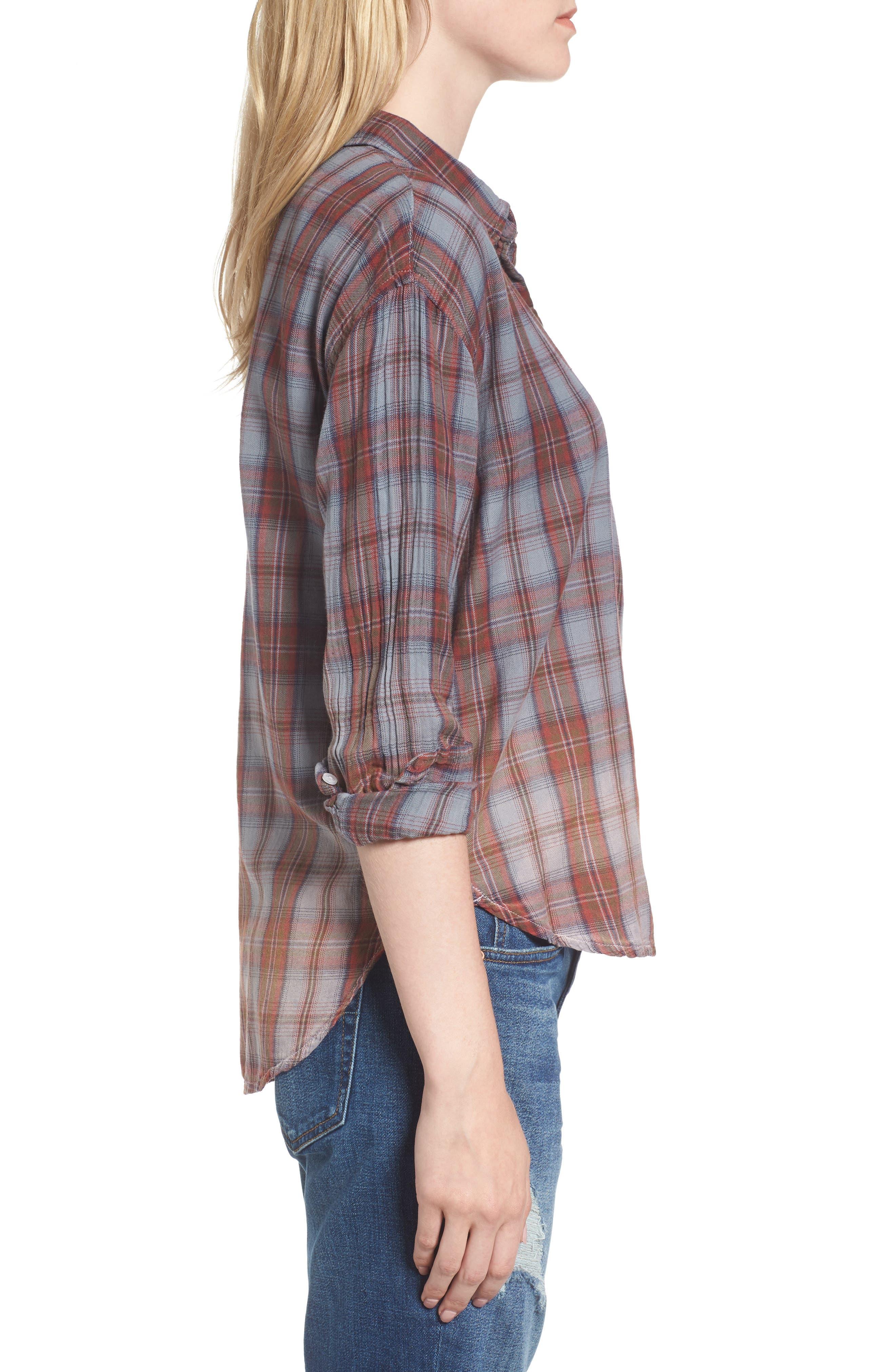 Alternate Image 3  - Sundry Plaid Pocket Shirt
