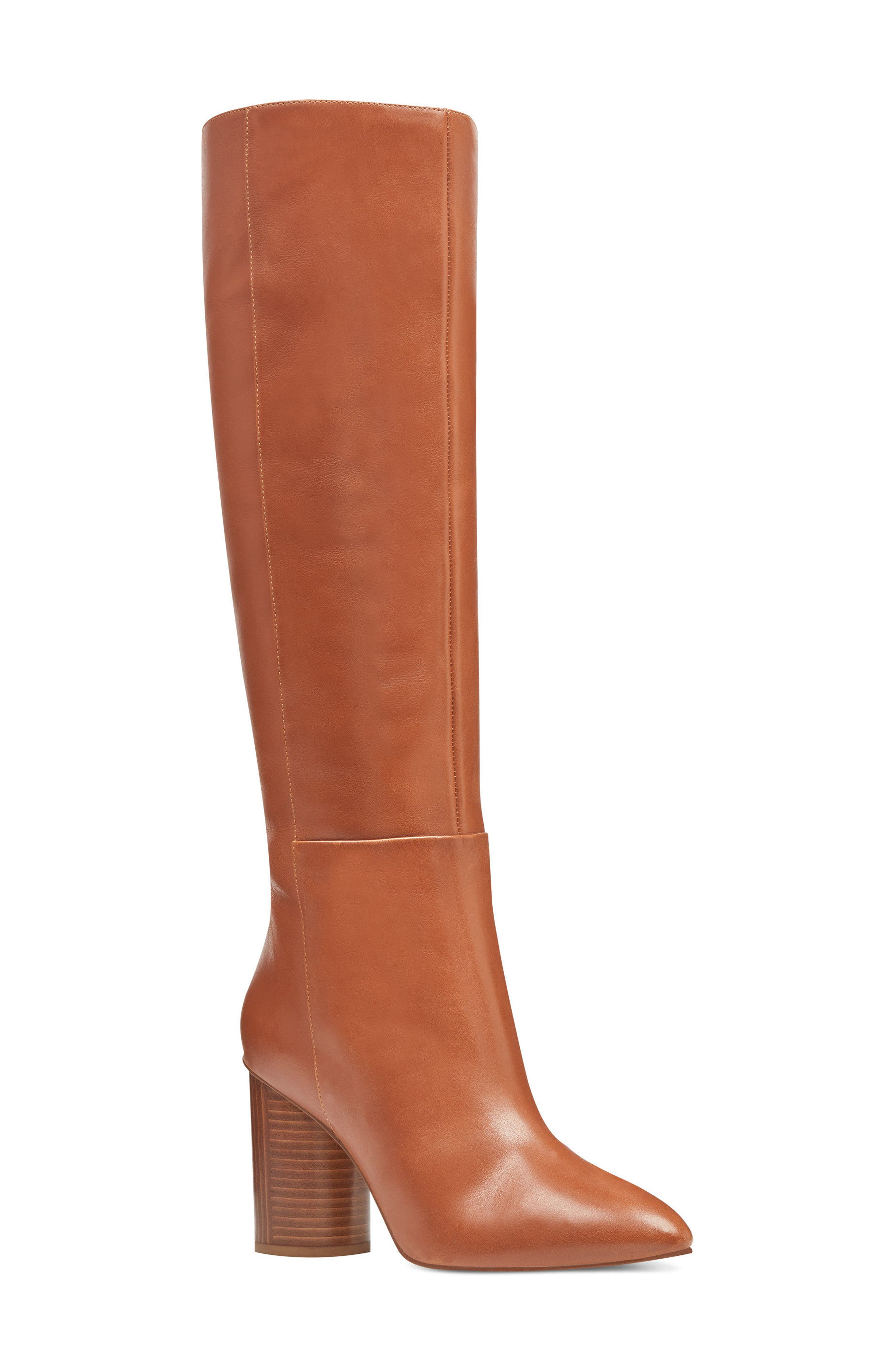 Christie Knee High Boot,                         Main,                         color, Dark Natural Leather