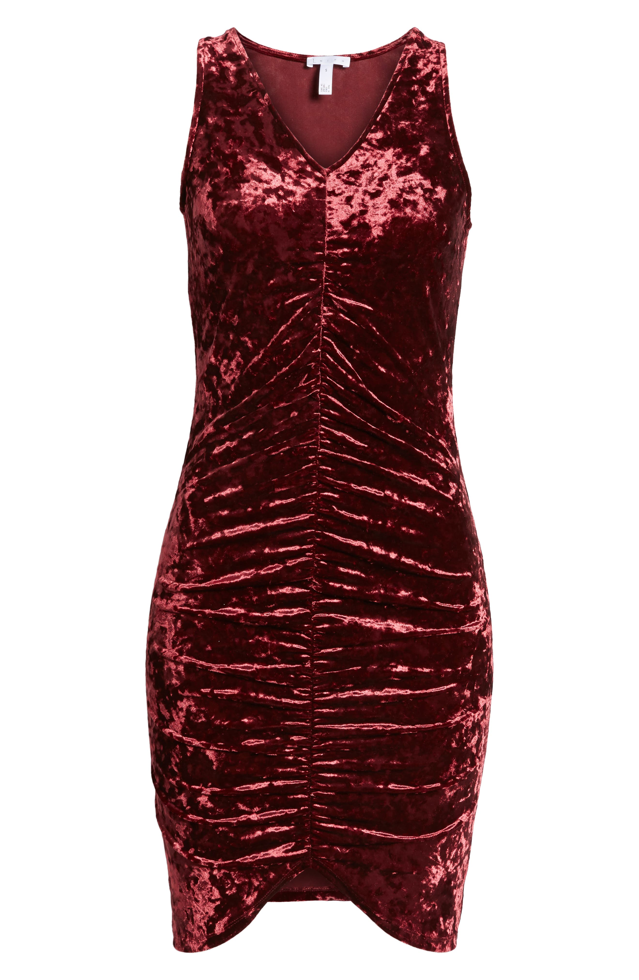 Alternate Image 6  - Leith Ruched Velour Sheath Dress