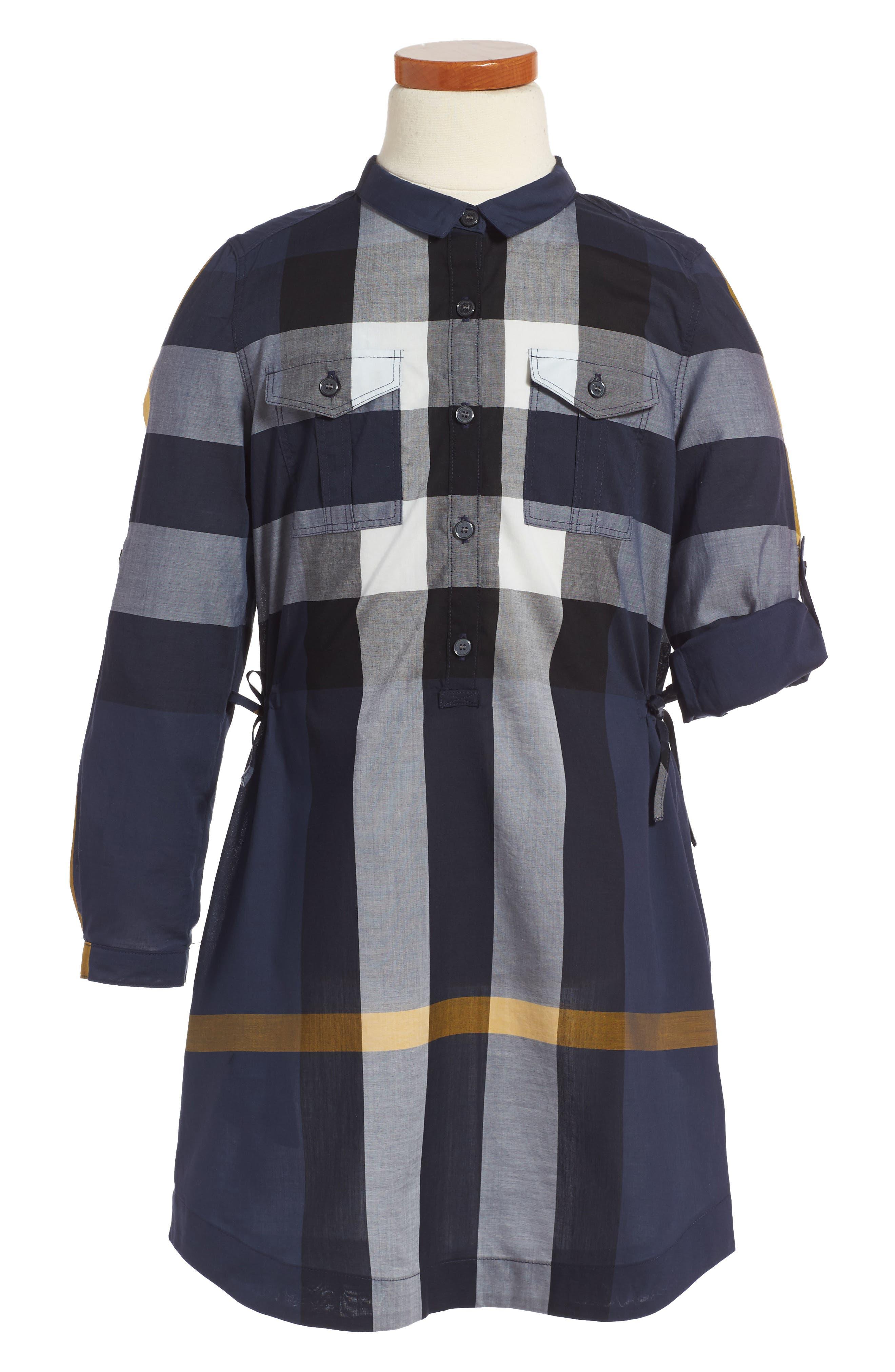 BURBERRY Darielle Check Print Dress