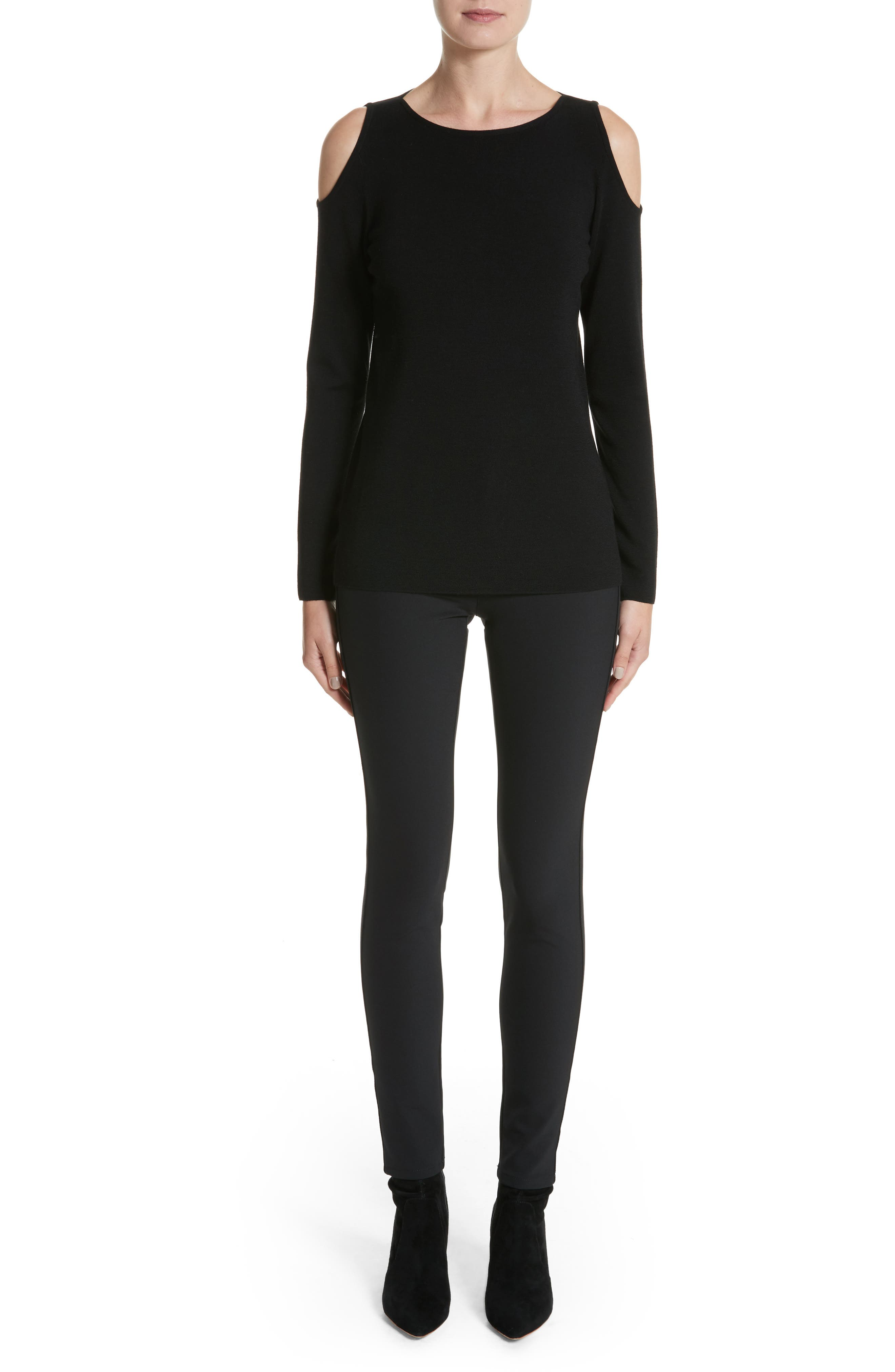 Alternate Image 7  - Lafayette 148 New York Wool Cold Shoulder Sweater