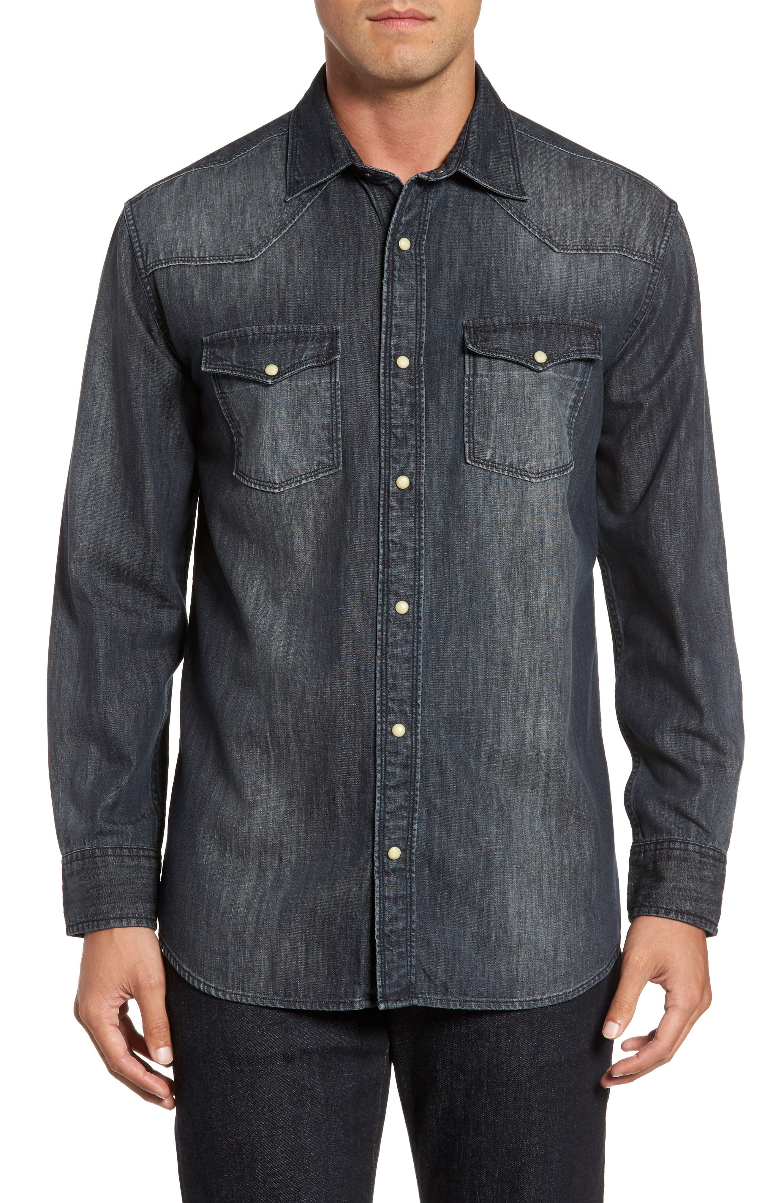 Main Image - FLYNT Regular Fit Denim Western Shirt