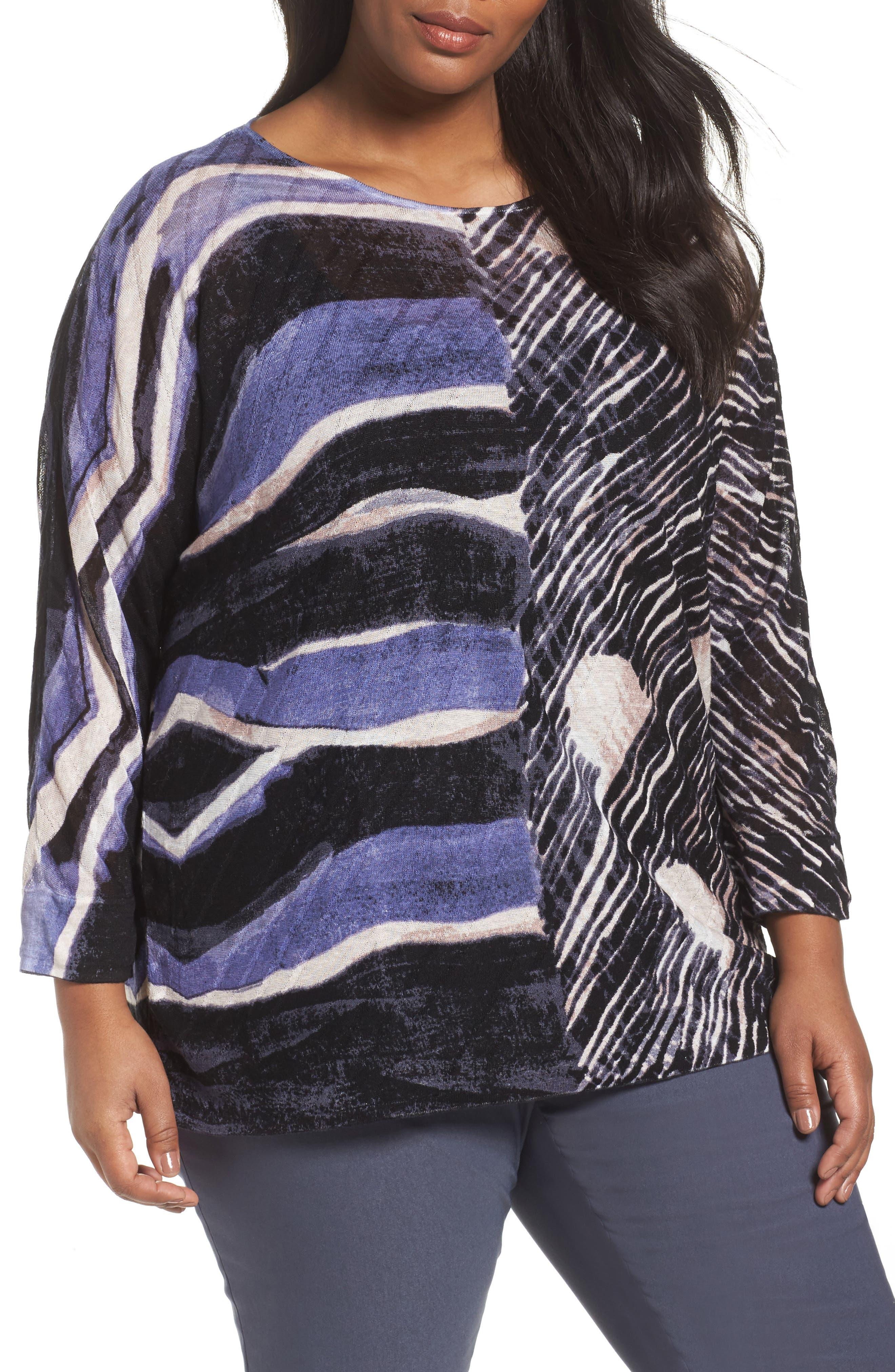 Sierra Sweater,                             Main thumbnail 1, color,                             Blue Multi